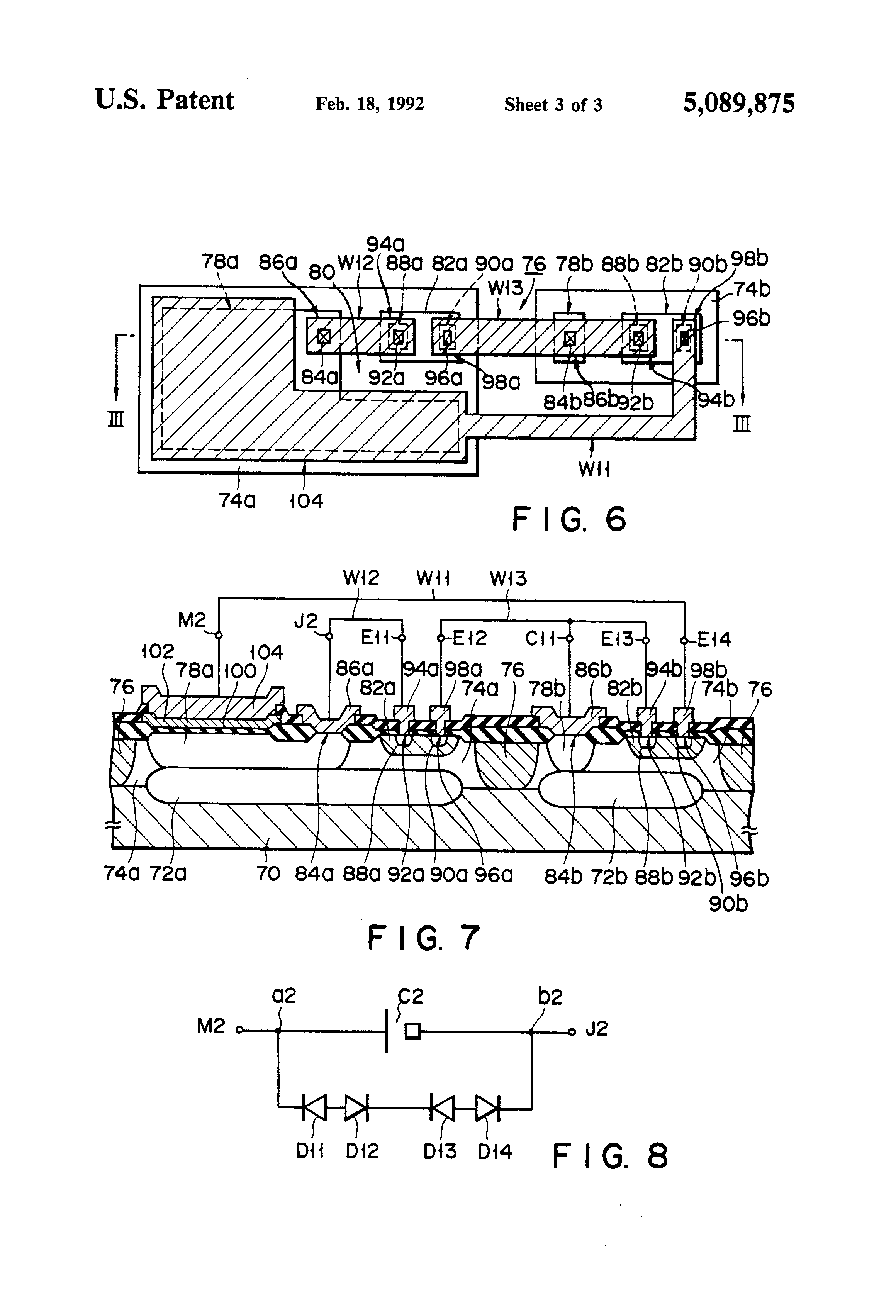 patent us5089875 semiconductor device mis capacitor patent drawing