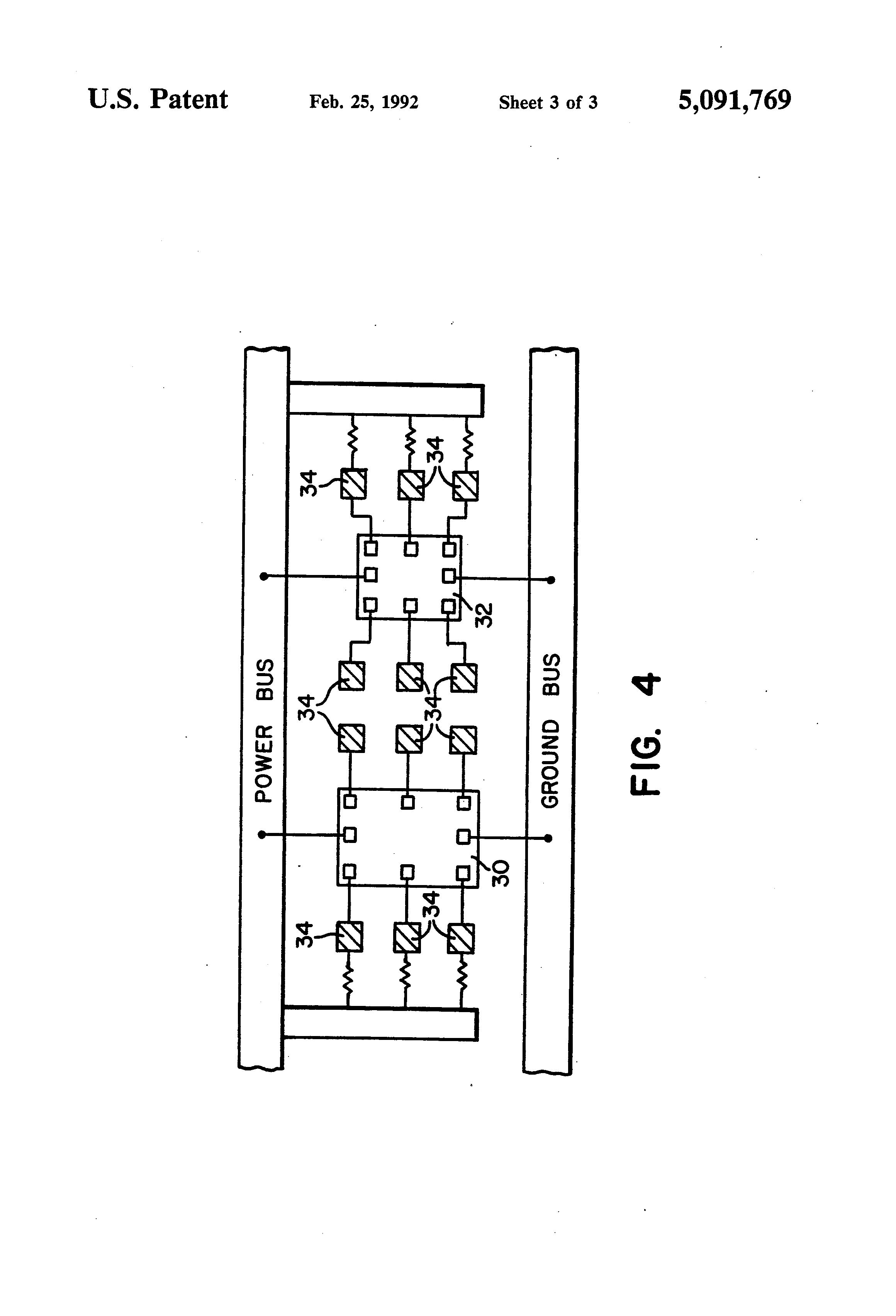 patent us5091769 - configuration for testing and burn-in of integrated circuit chips