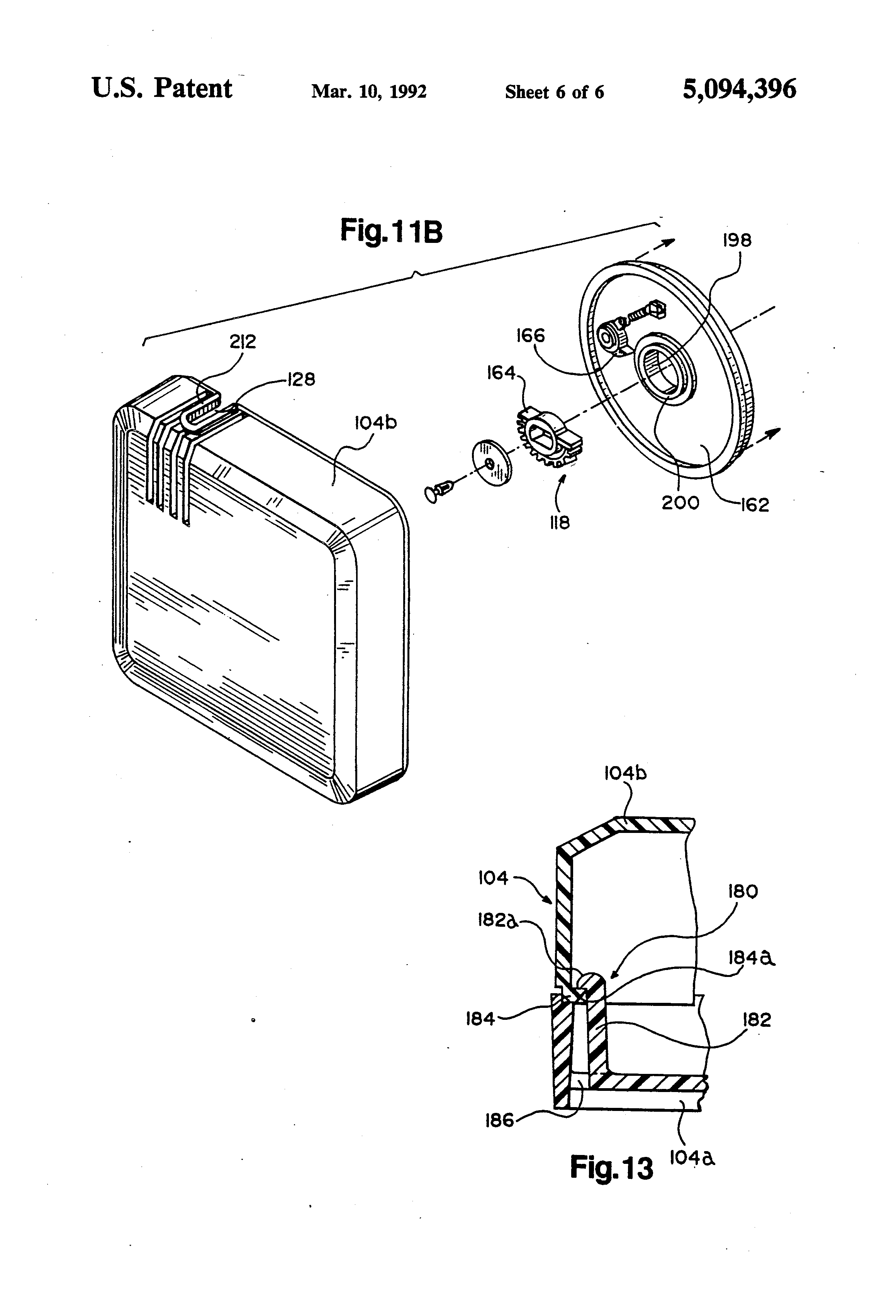 Patent Us5094396 - Retractable Reel Assembly For Telephone Extension Cord