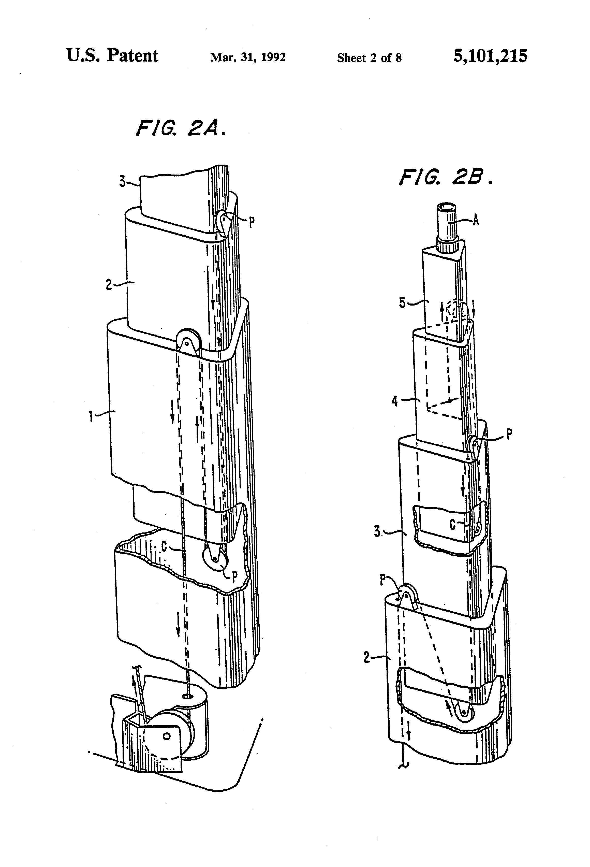 Patent Us5101215 Telescoping Lightweight Antenna Tower