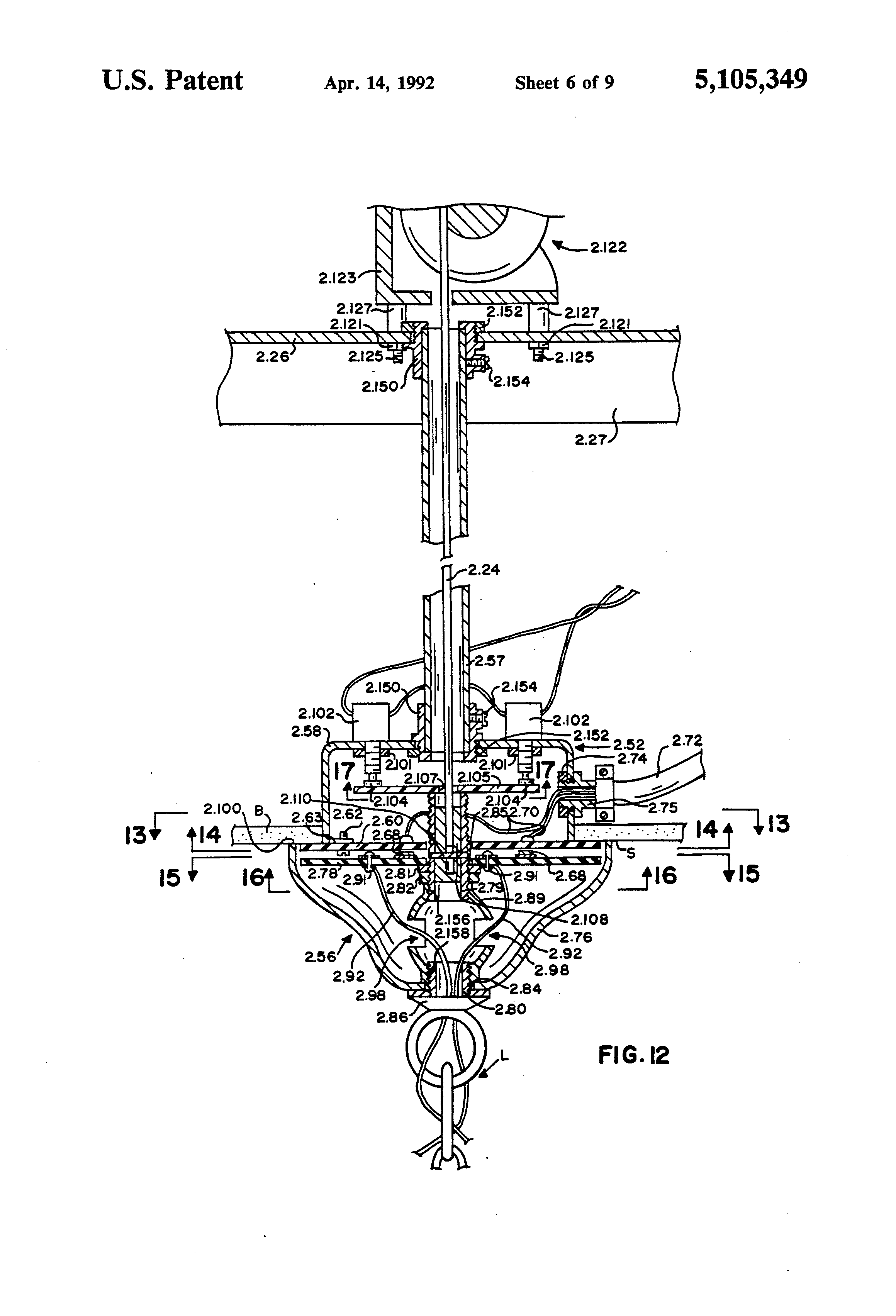 Patent us5105349 motorized chandelier lift system google patents patent drawing arubaitofo Image collections