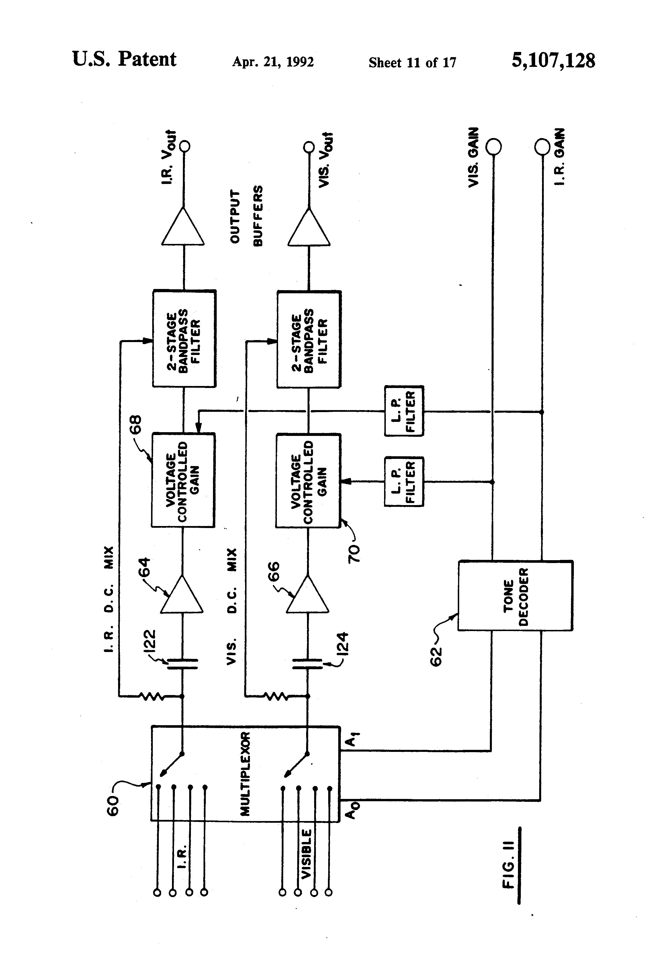 Patent Us5107128 Method And Apparatus For Detecting Flame With Rr3 Ge Relay Wiring Diagram Drawing