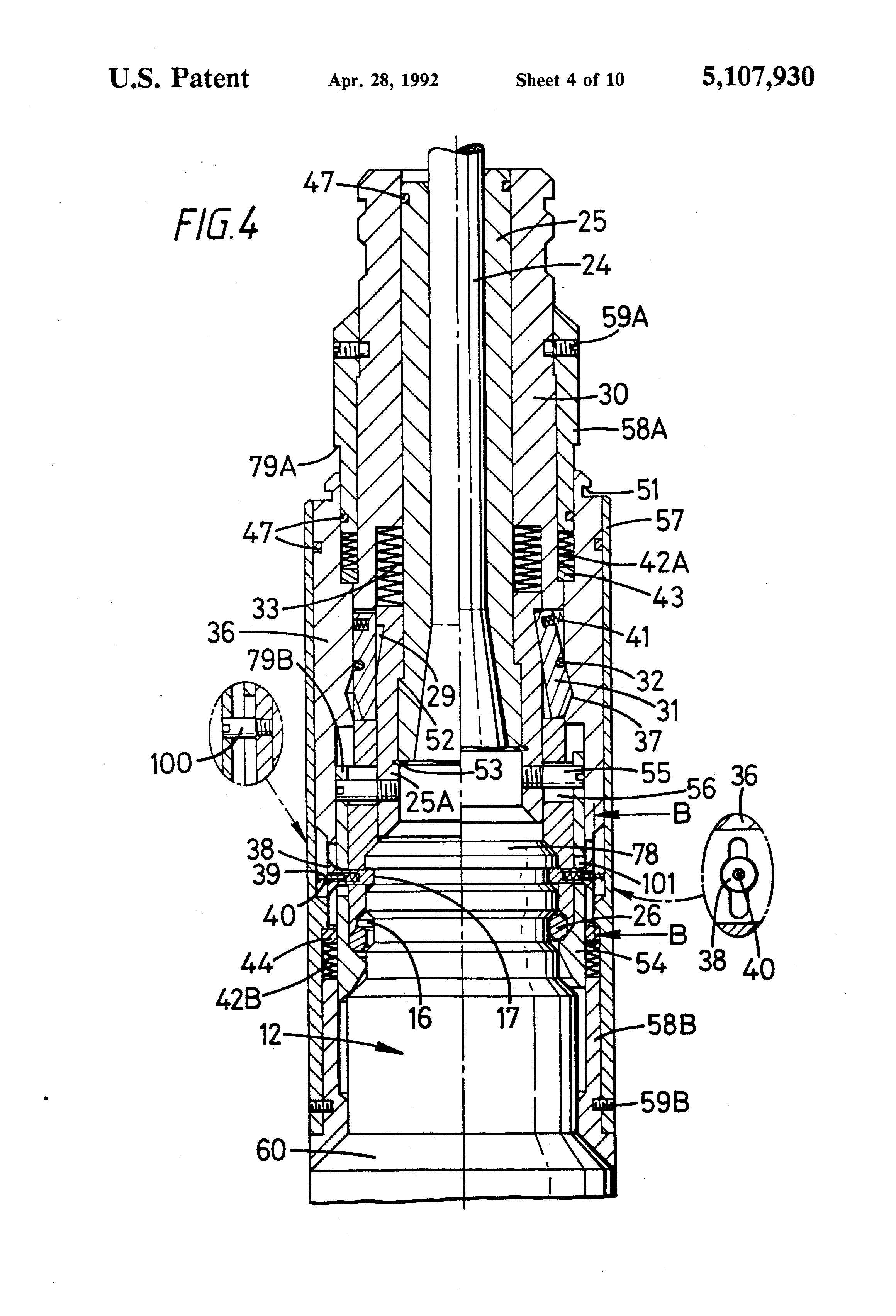 patent us5107930 guide line attachment google patents