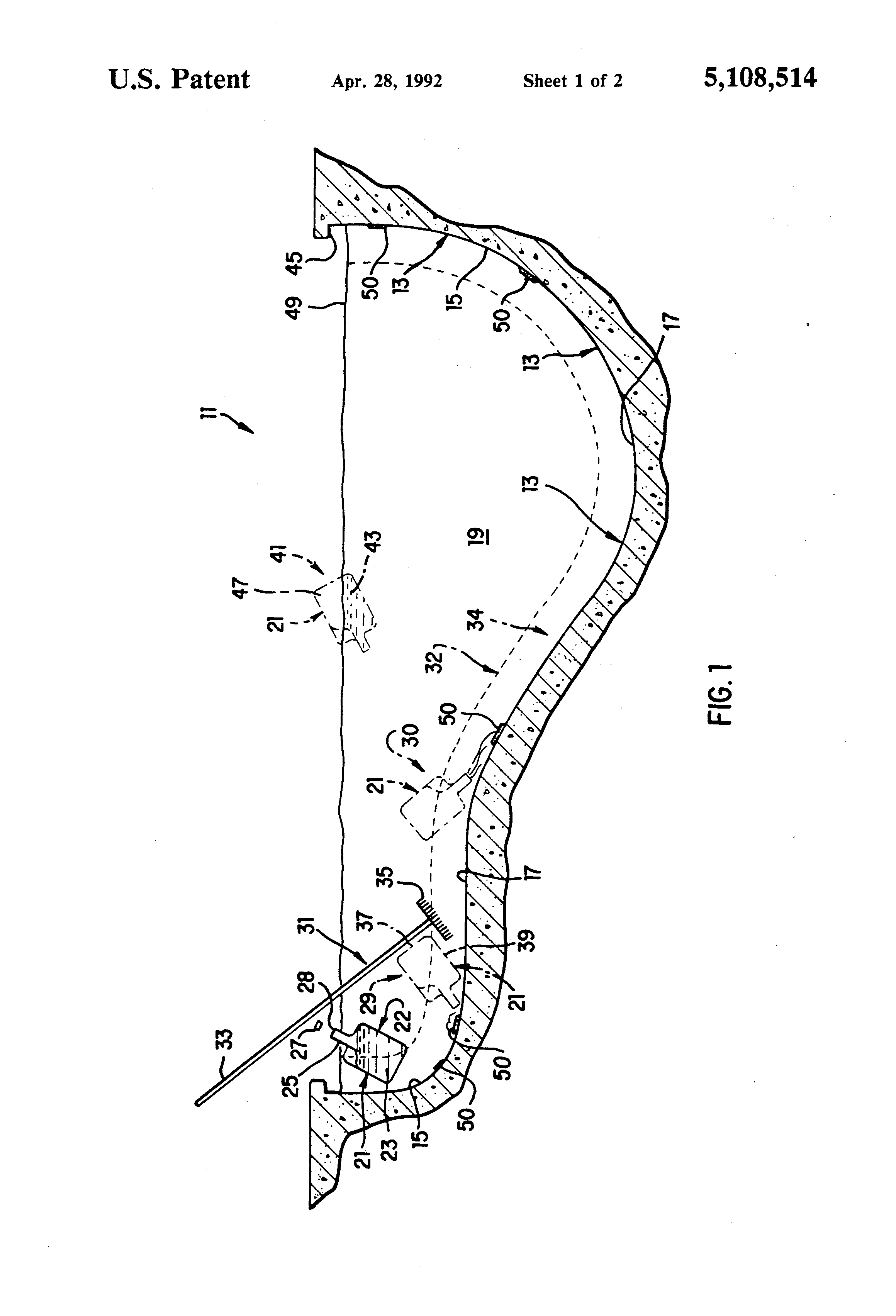 Patent Us5108514 In Situ Method For Cleaning Swimming Pools Without Draining The Water