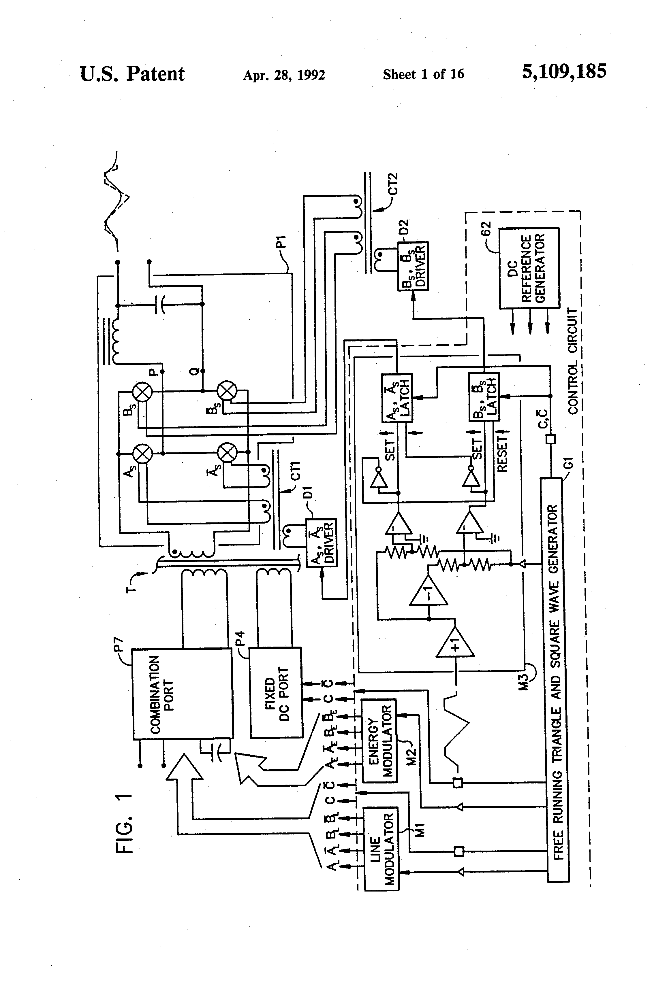 Patent Us5109185 Phase Controlled Reversible Power Converter Bidirectional Level Shifter Circuit Problem Electrical Drawing