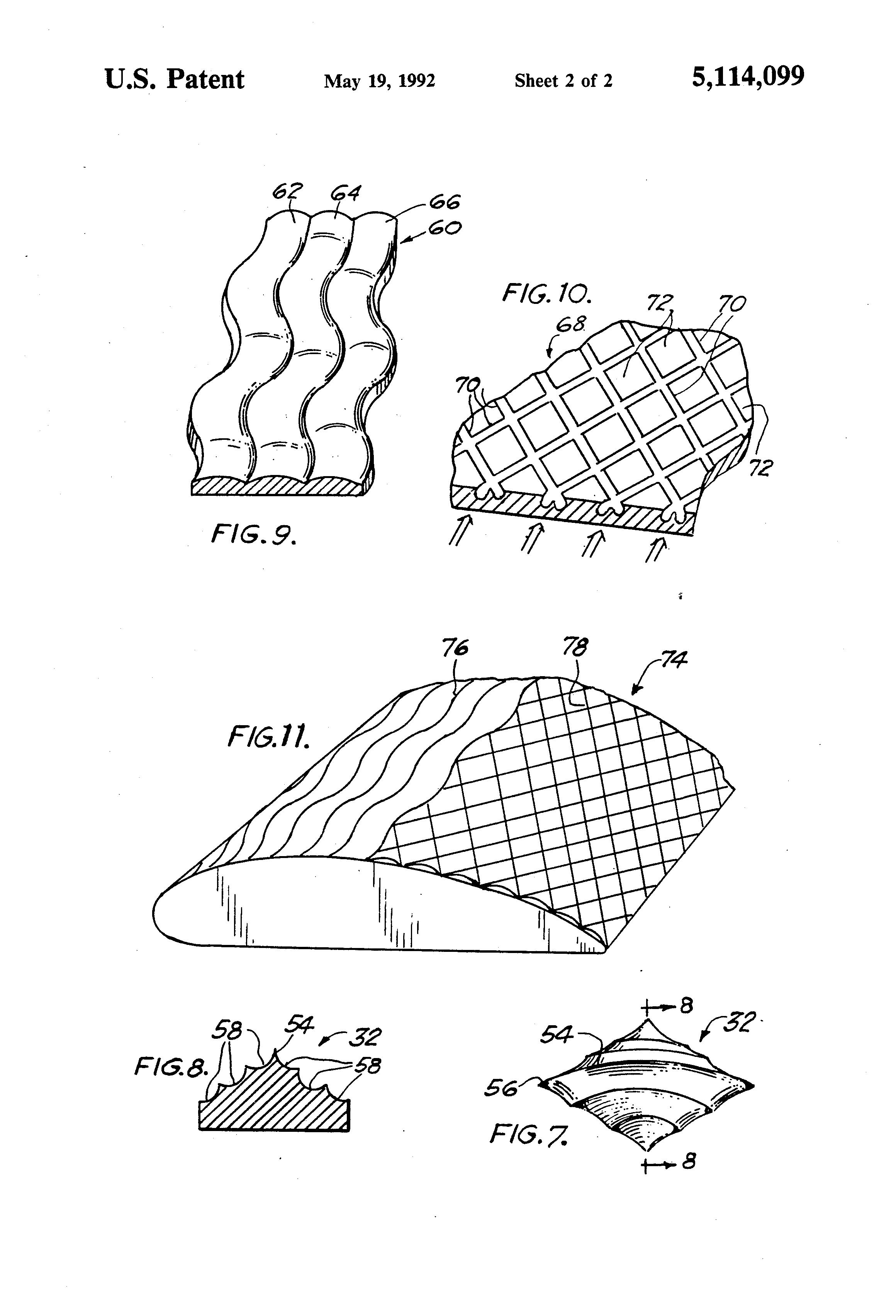 Drag reducing surface