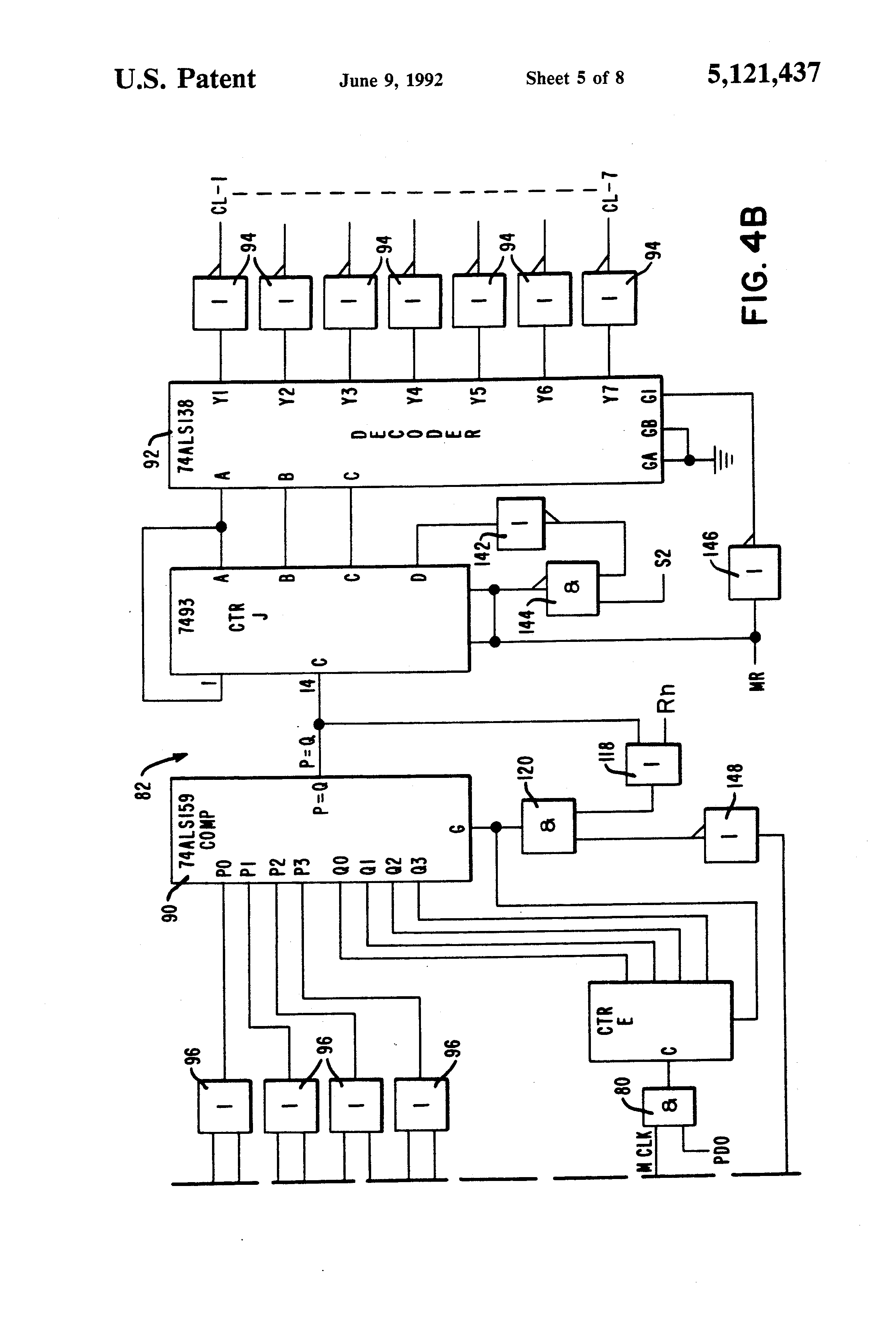 Patent Us5121437 Micr Character Reader Independent Of Document Logic Diagram 7493 Drawing