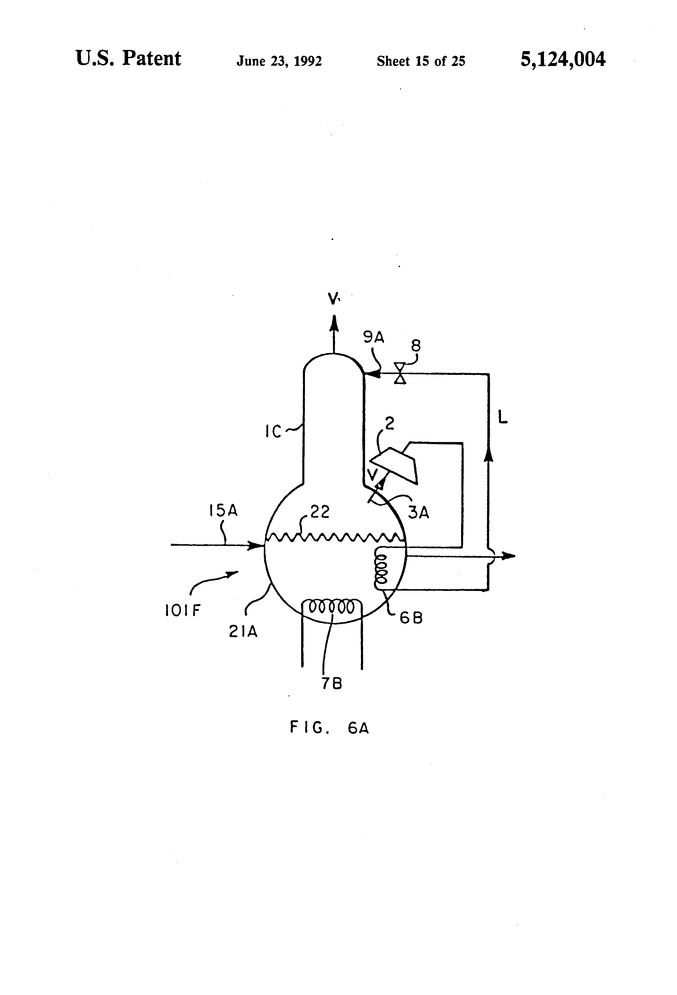 patent us5124004 - distillation process for ethanol
