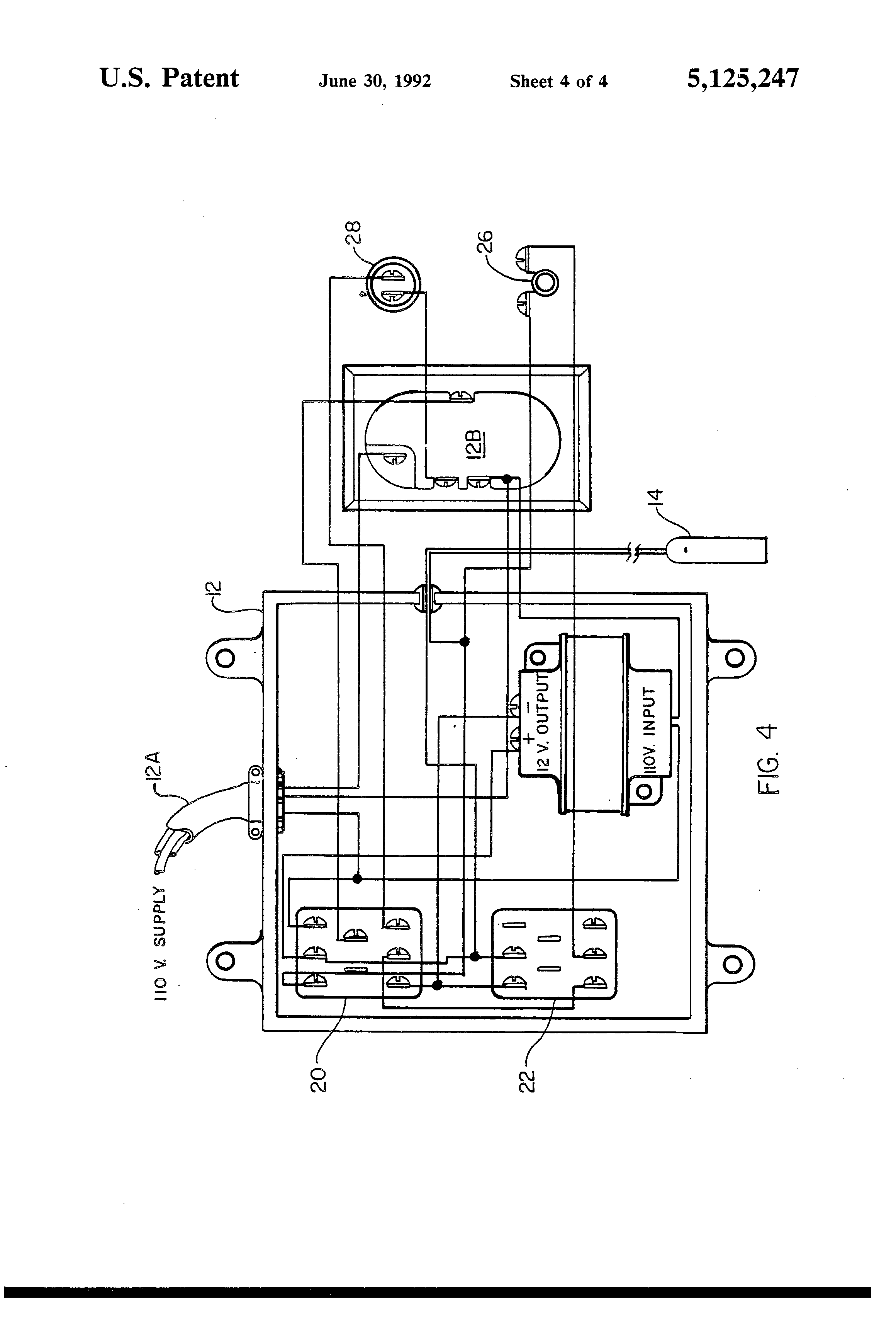 patent us5125247 - washing machine overflow prevention device signal quality indicator