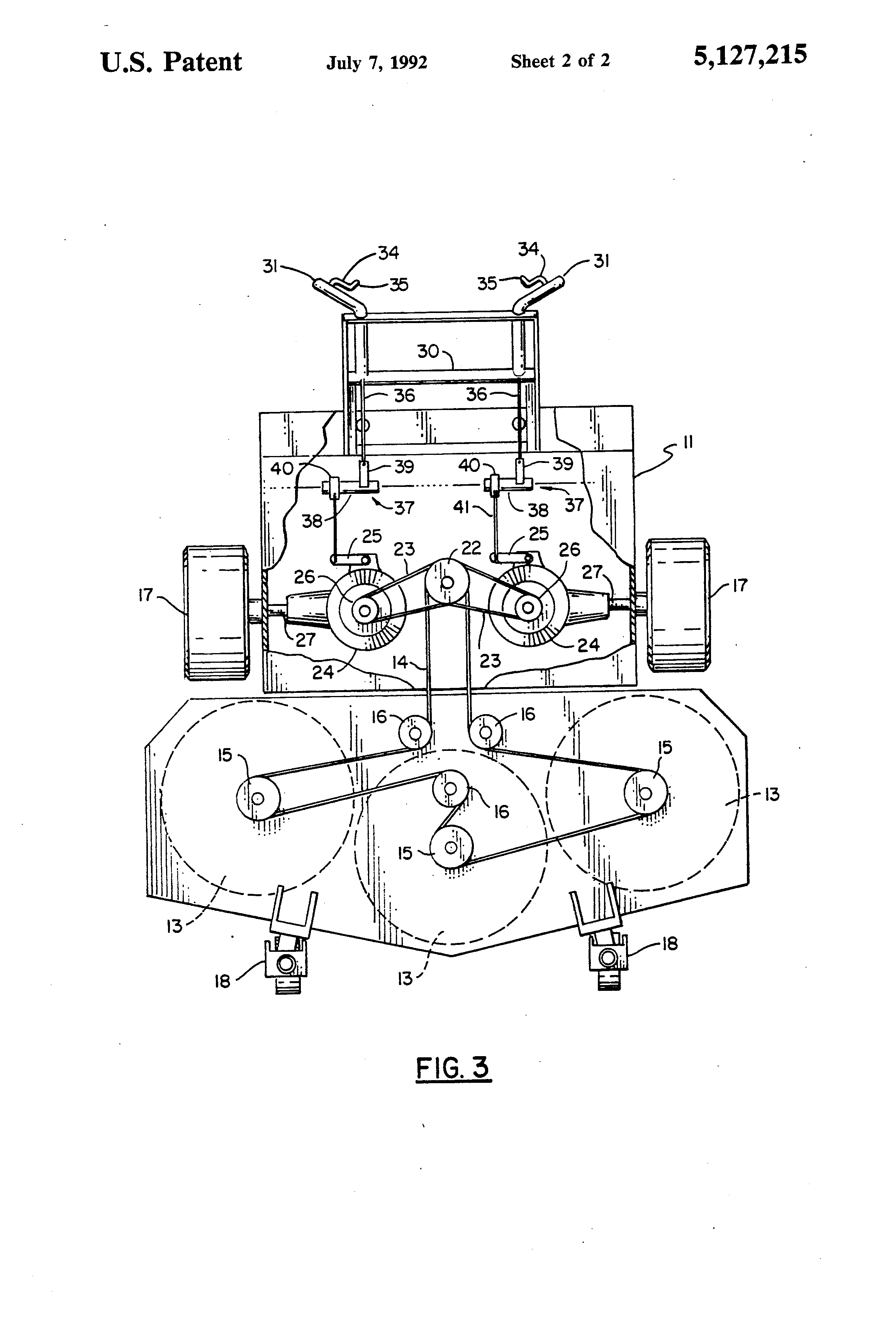 US5127215 2 patent us5127215 dual hydrostatic drive walk behind mower Simple Wiring Schematics at soozxer.org