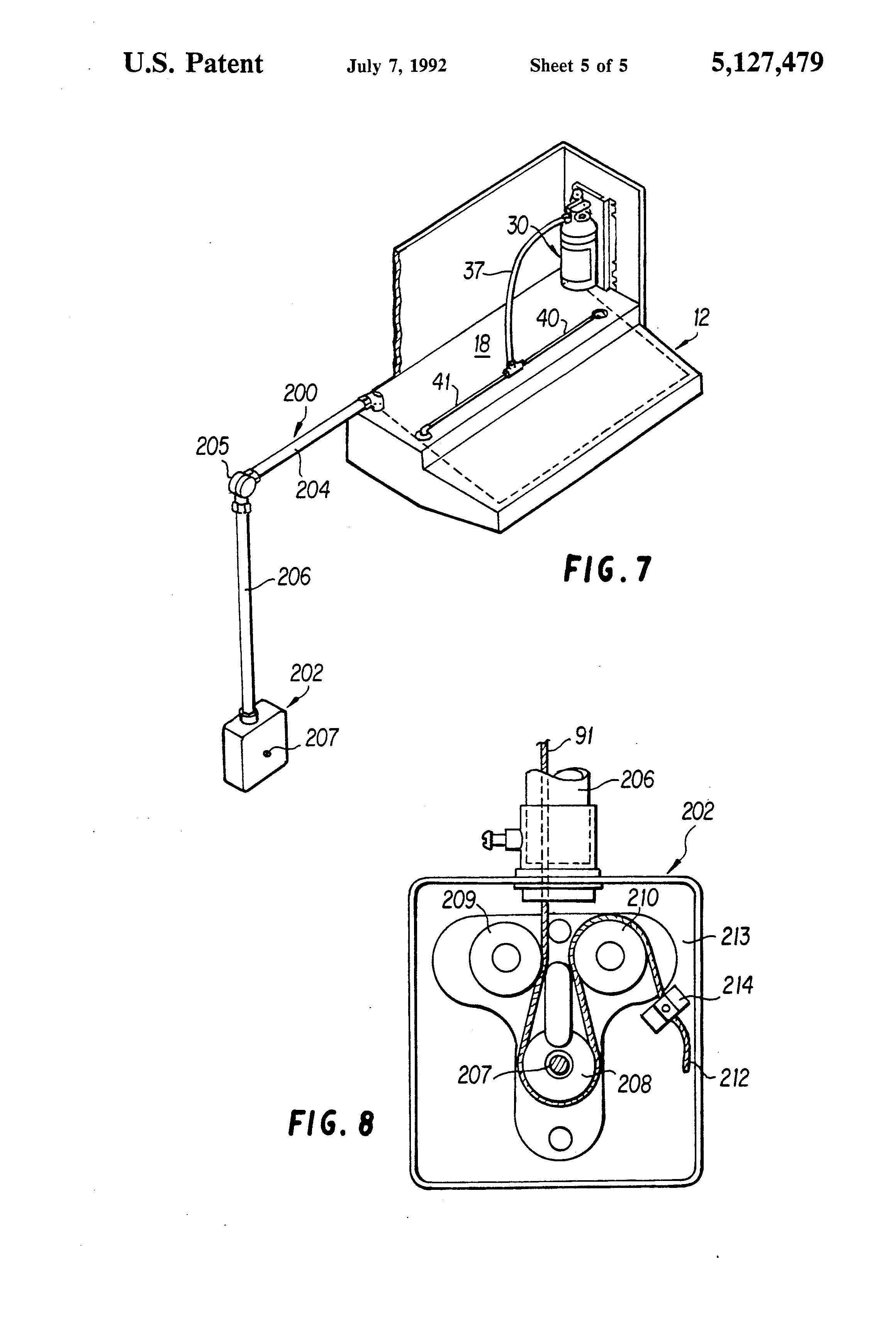 patent us5127479 fire extinguishing system for cookstoves and patent drawing