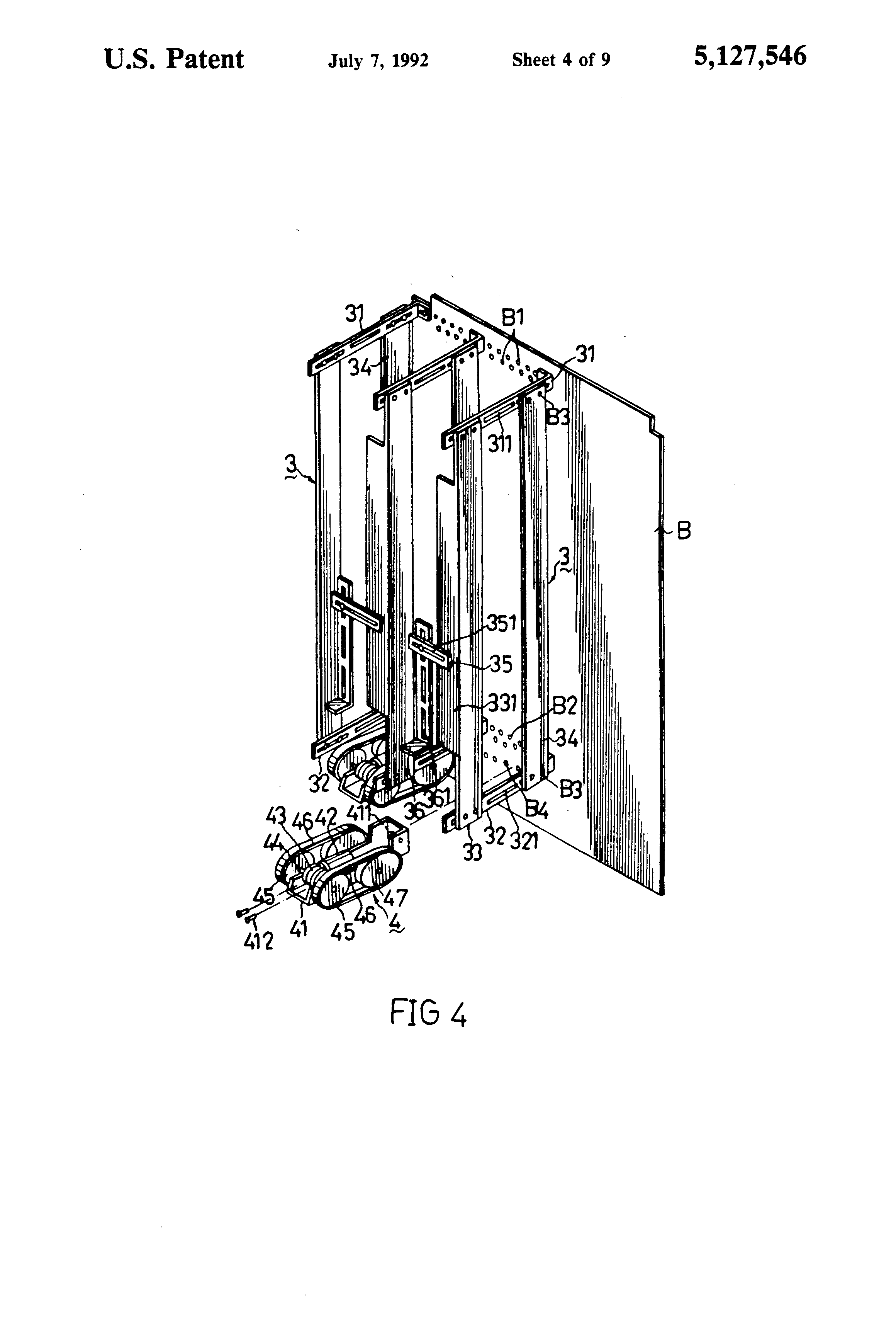 patent us5127546 - storage bin structure for an automatic vending machine