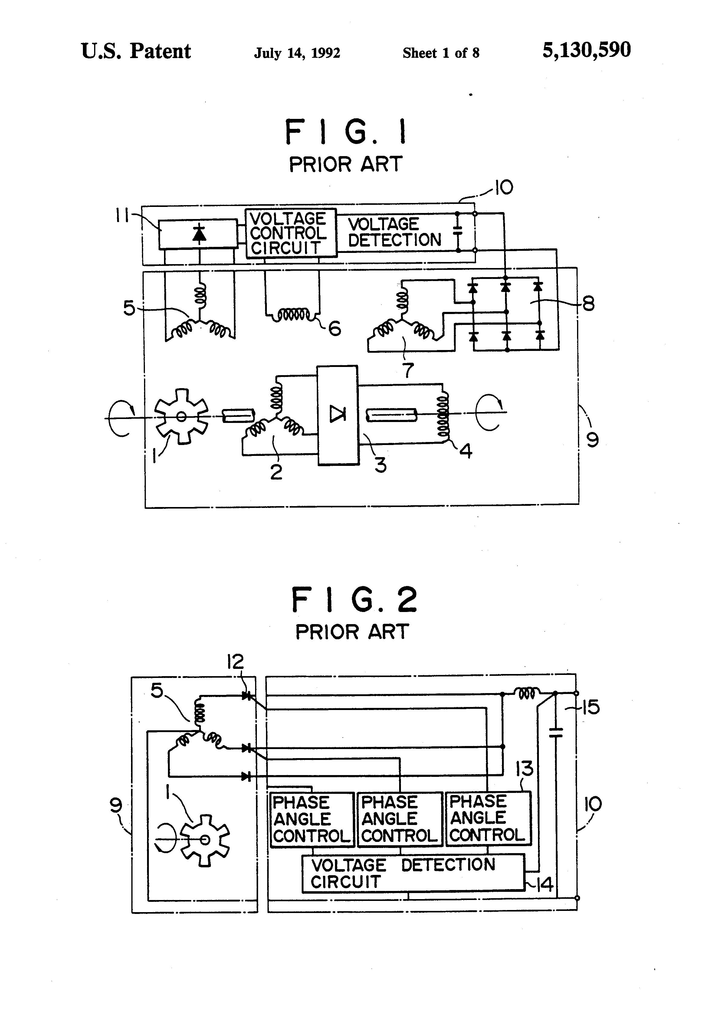 patent us5130590 brushless generator regulated by second rotorPatent Us6707276 Voltage Regulator Of Ac Generator Having Circuit #7