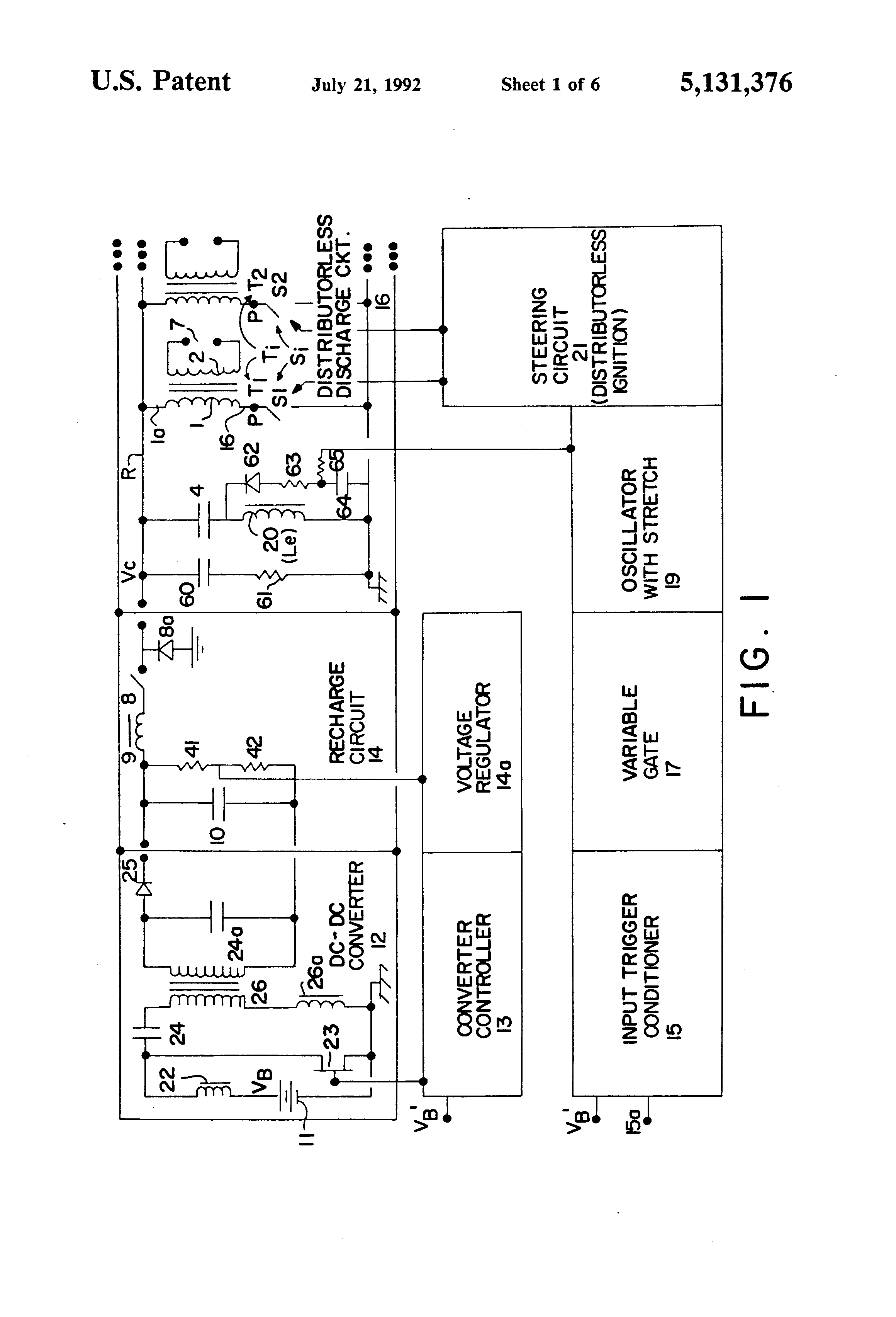 patent us5131376 - distributorless capacitive discharge ignition system