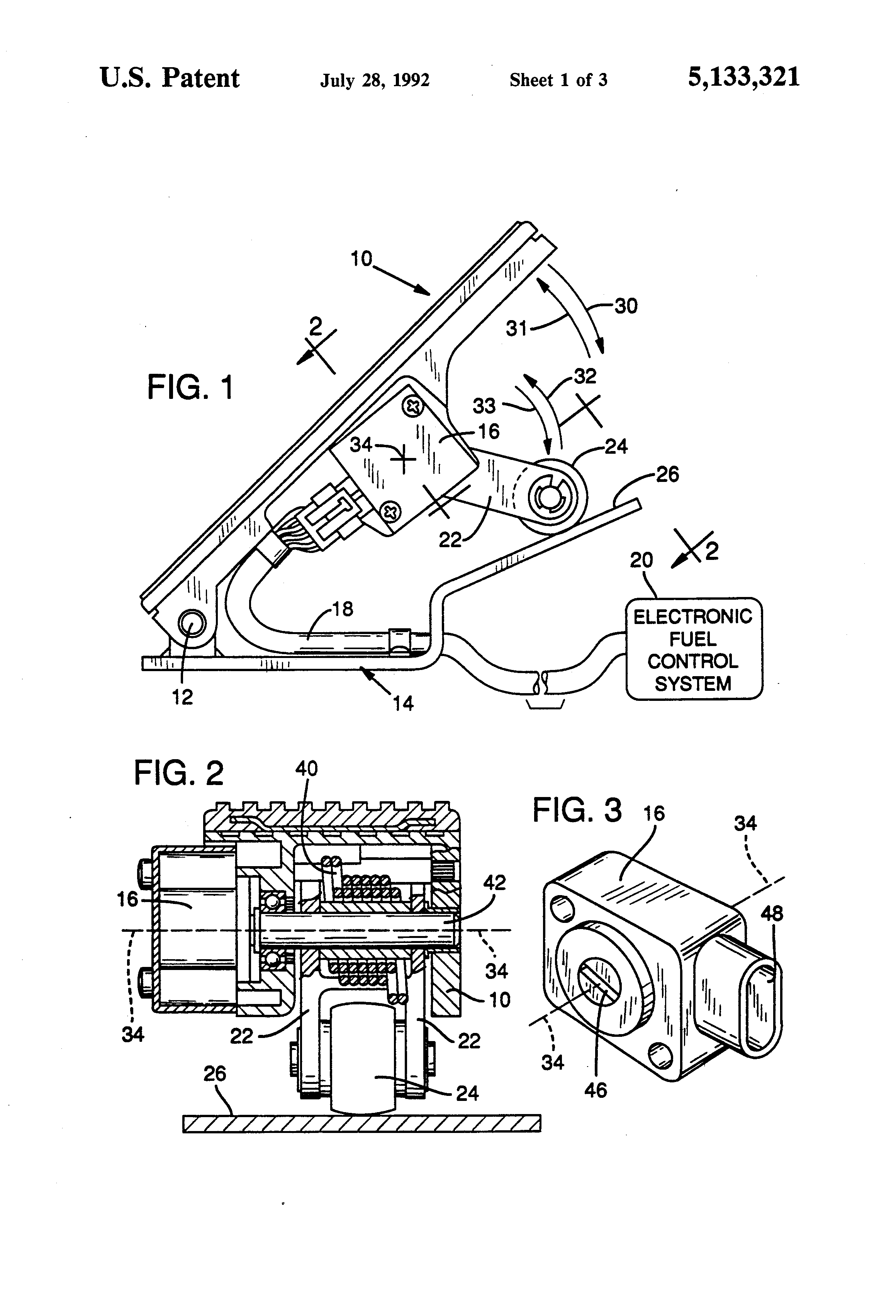 US5133321 1 patent us5133321 integrated throttle control and idle validation  at mifinder.co