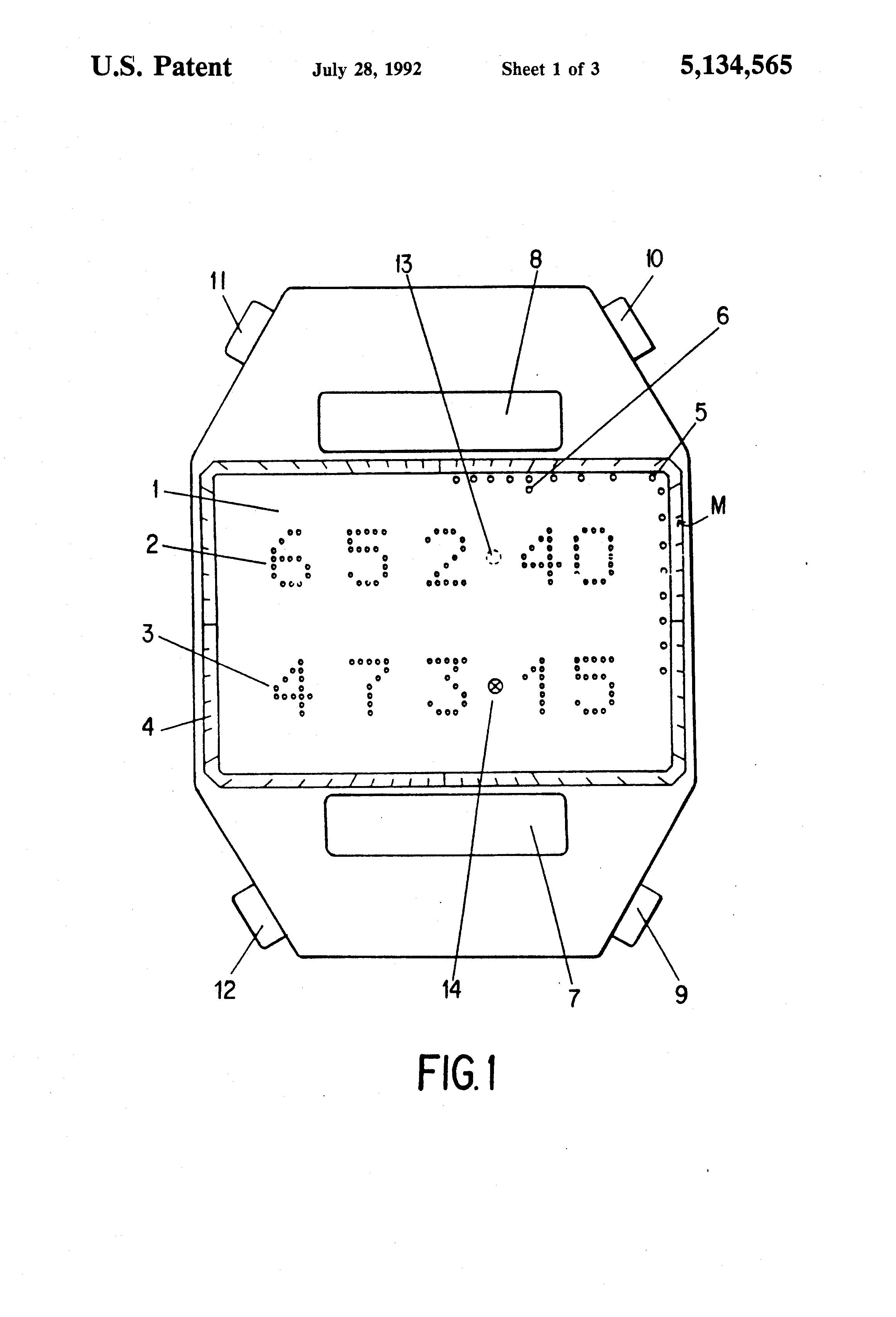 patent us5134565