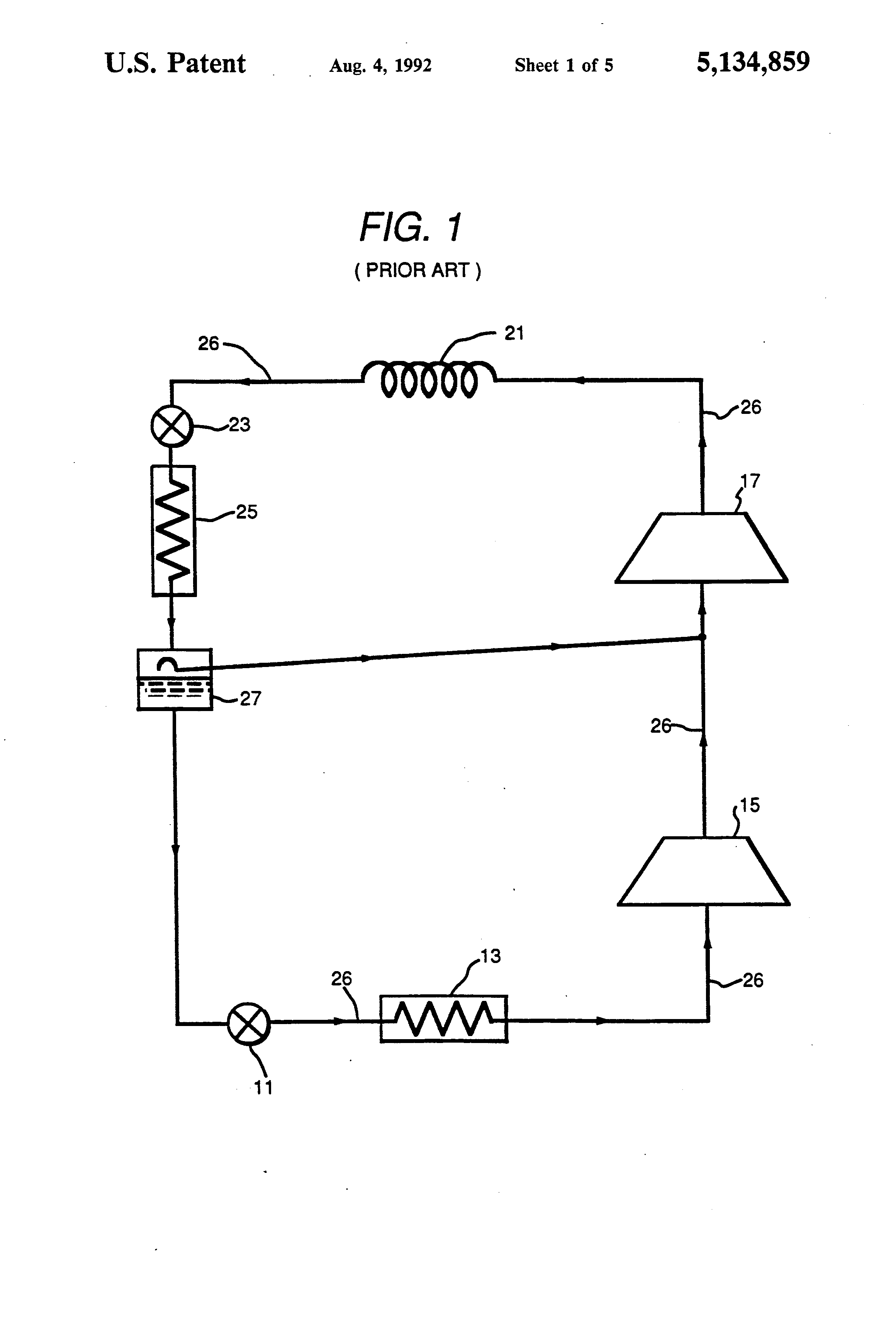 patent us5134859 excess refrigerant accumulator forControl System For Controlling Multiple Compressors Google Patents #2