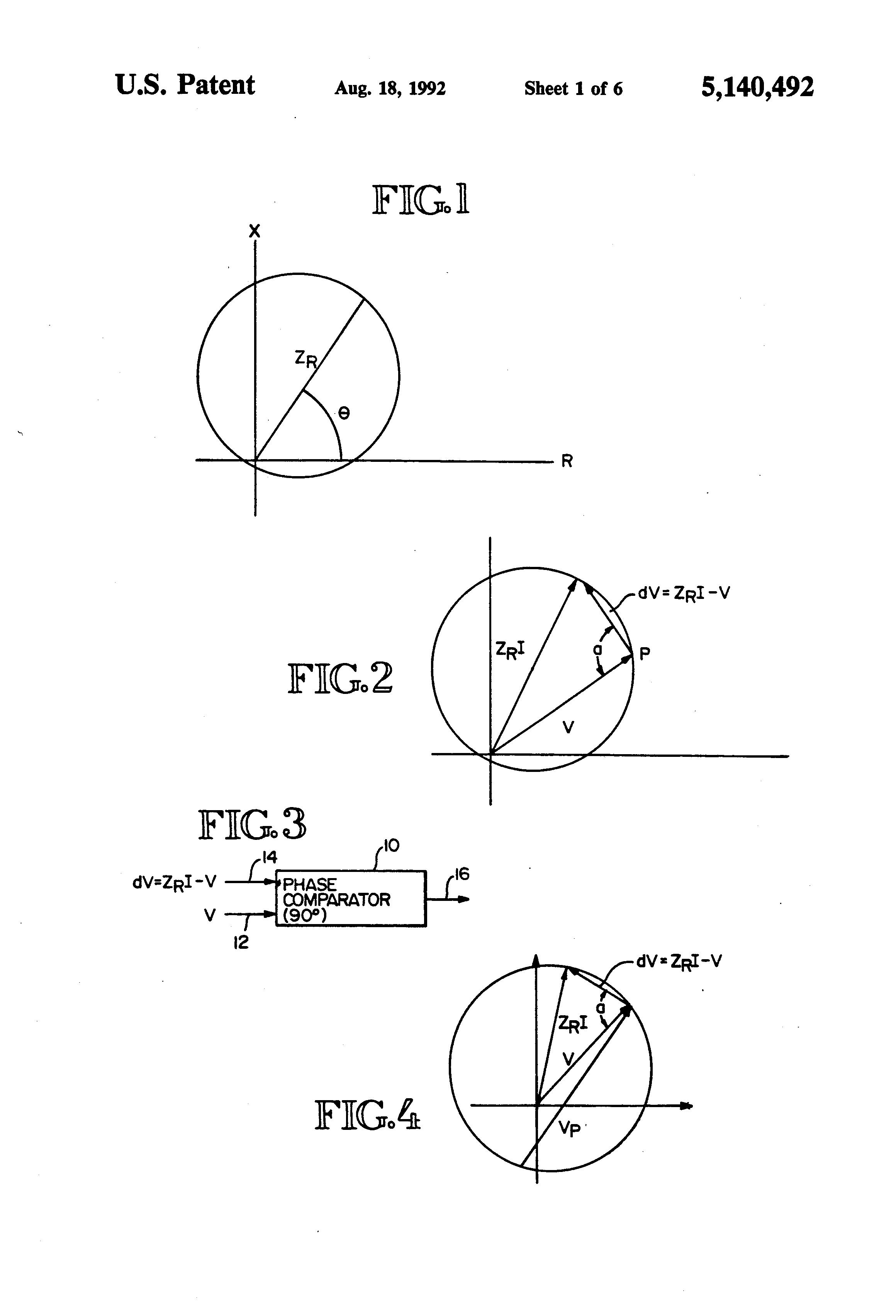 US5140492 1 patent us5140492 distance relay using a polarizing voltage 4 Pin Relay Wiring Diagram at readyjetset.co