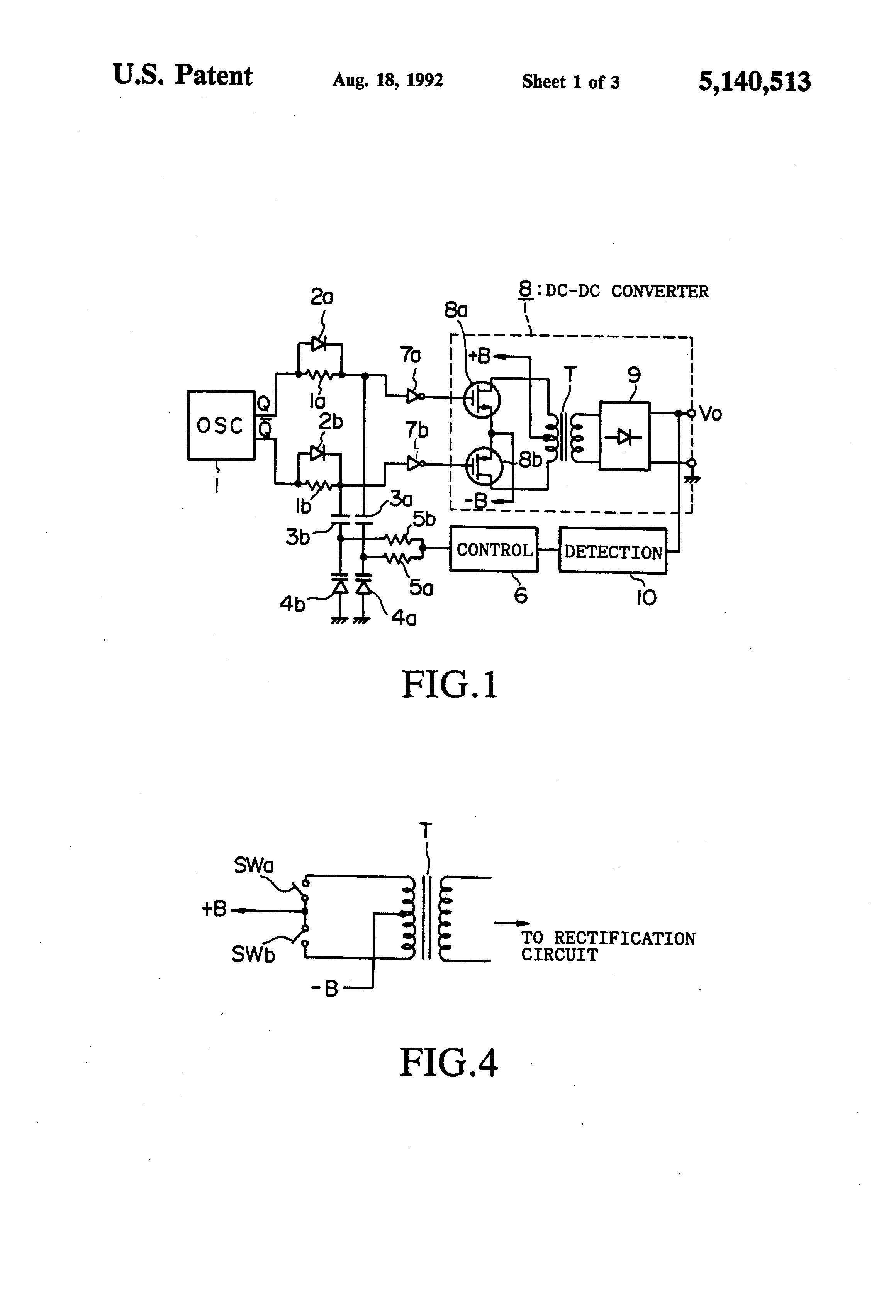 Patent Us5140513 Switching Regulated Dc Converter Using Power Mosfet Output Regulator Circuitin Integrated Circuits Drawing
