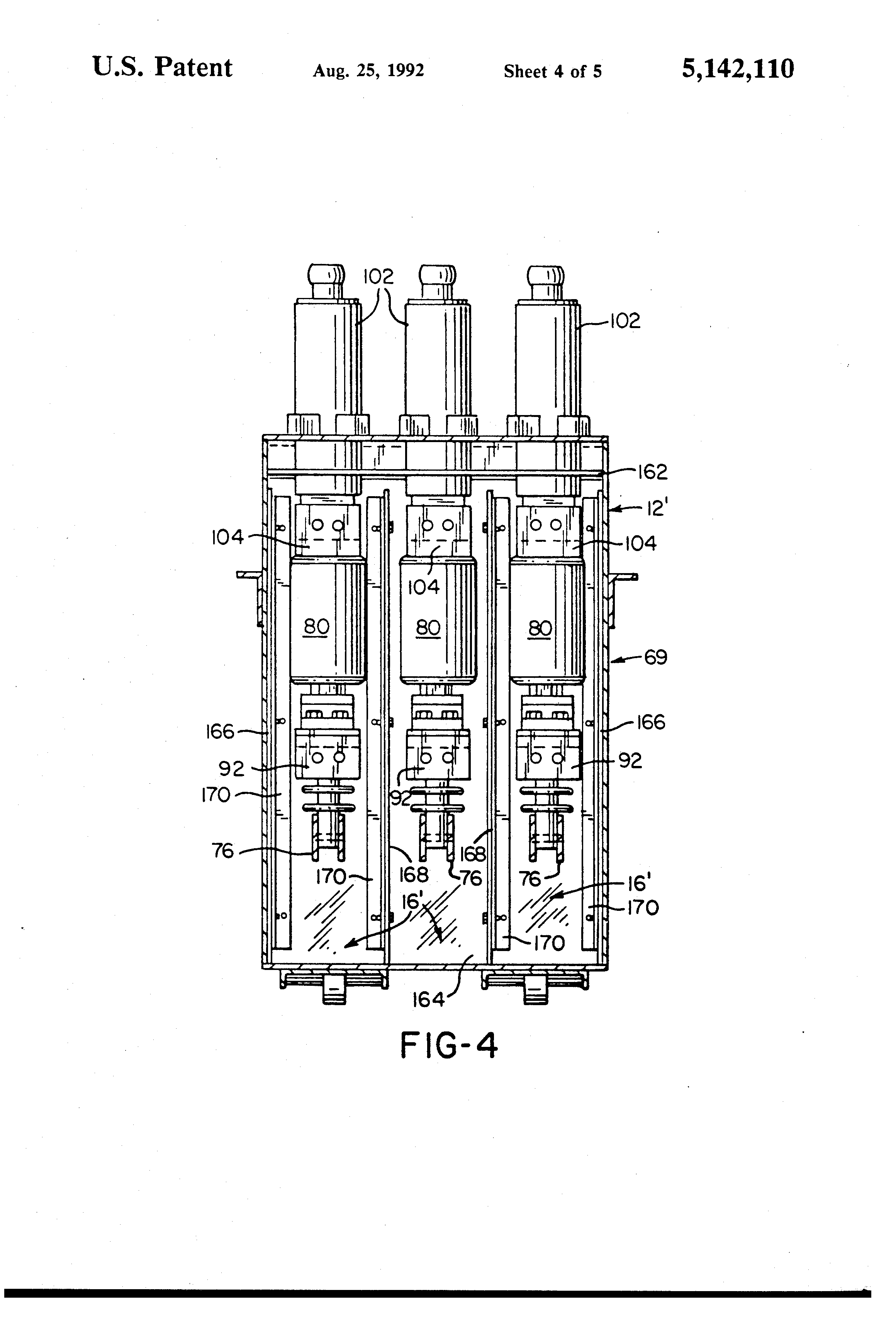 US5142110 4 patent us5142110 modified magne blast circuit breaker and method magne blast wiring diagram at mifinder.co