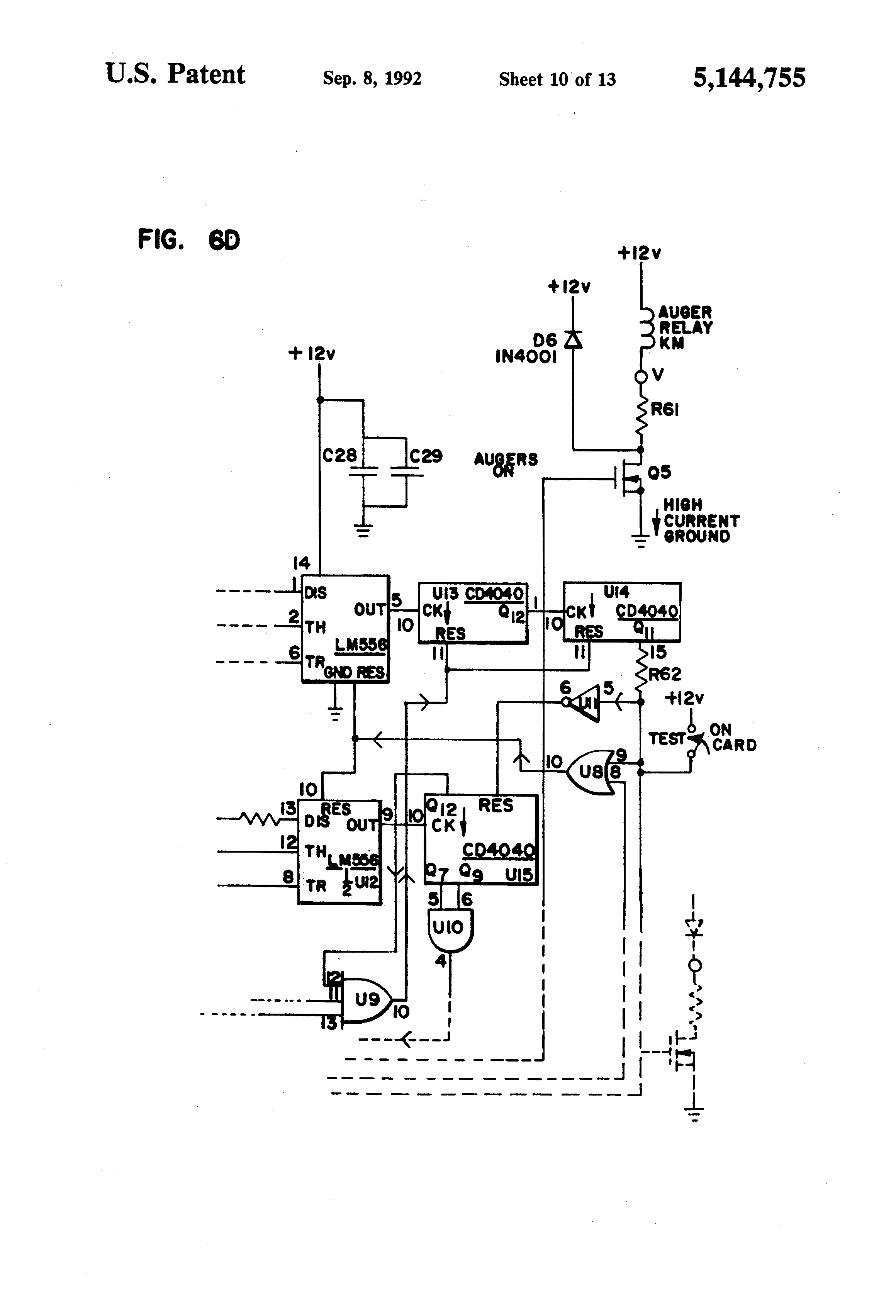patent us5144755 grain dryer control system and method using patent drawing