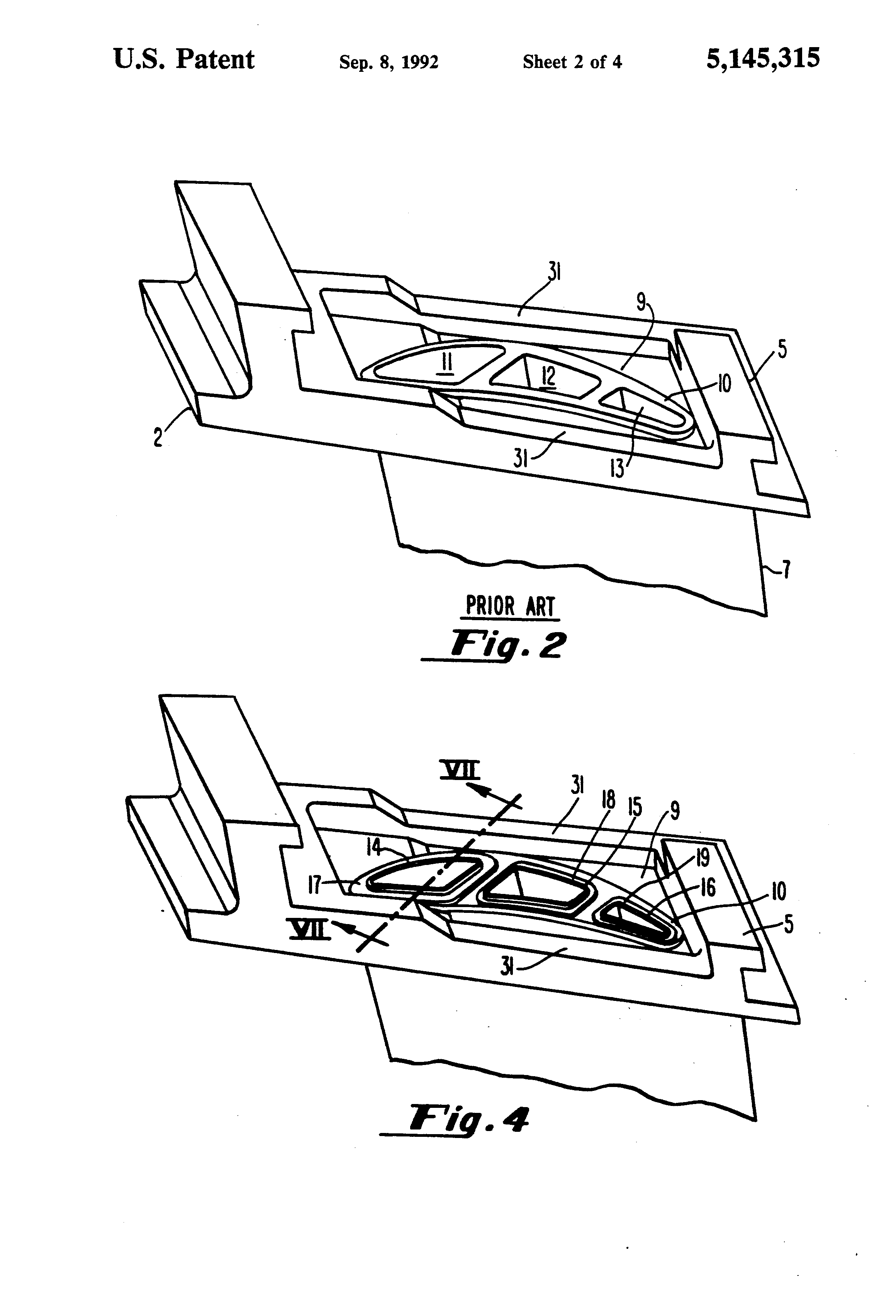 patent us5145315 - gas turbine vane cooling air insert