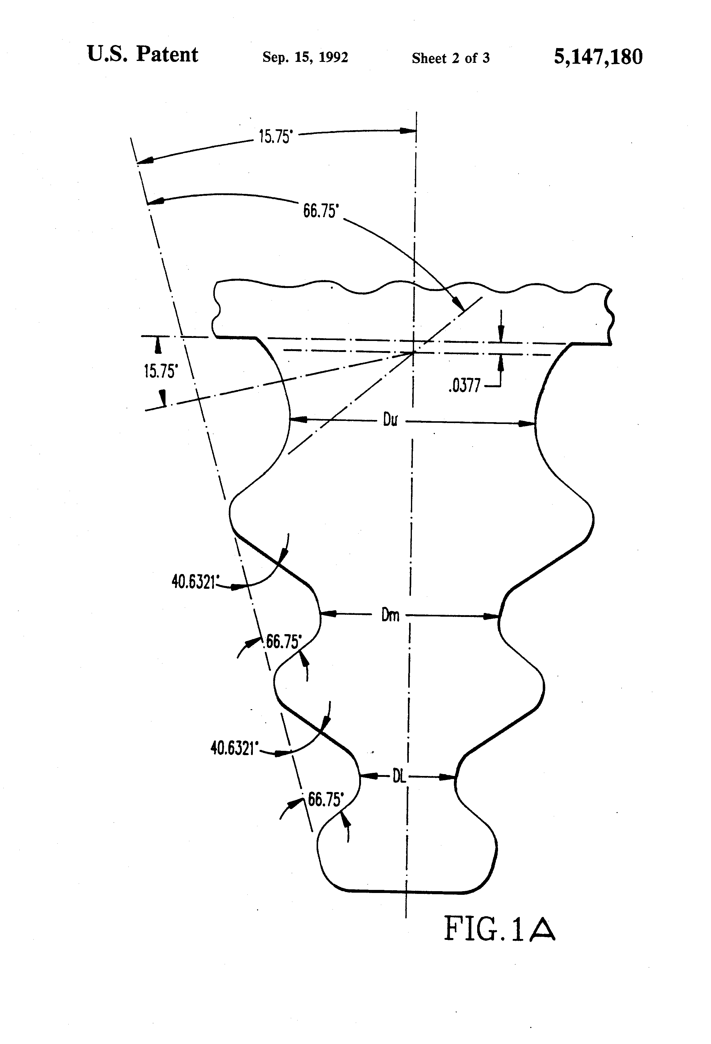 Patent US Optimized blade root profile for steam turbine