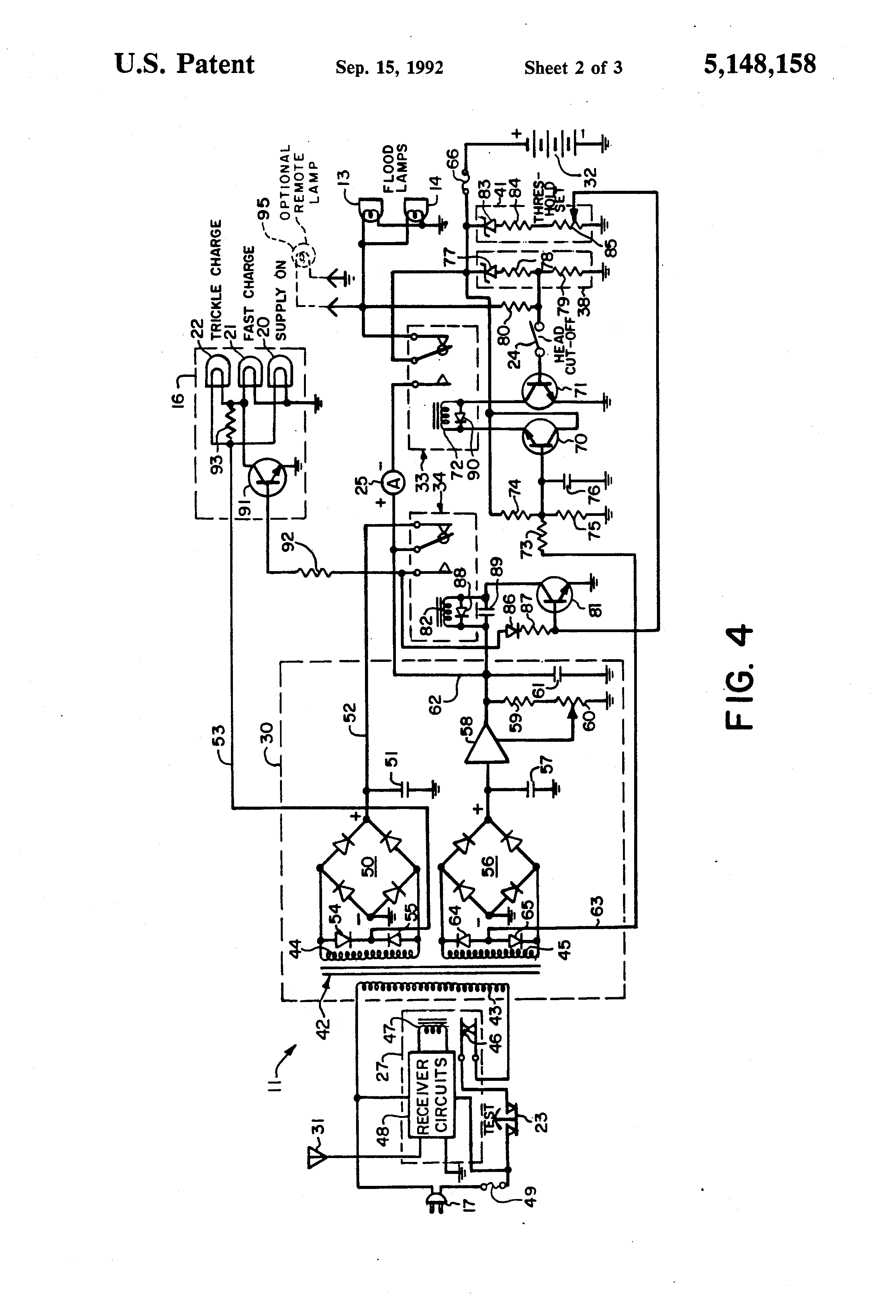 US5148158 on Low Voltage Battery Cut Off Circuit
