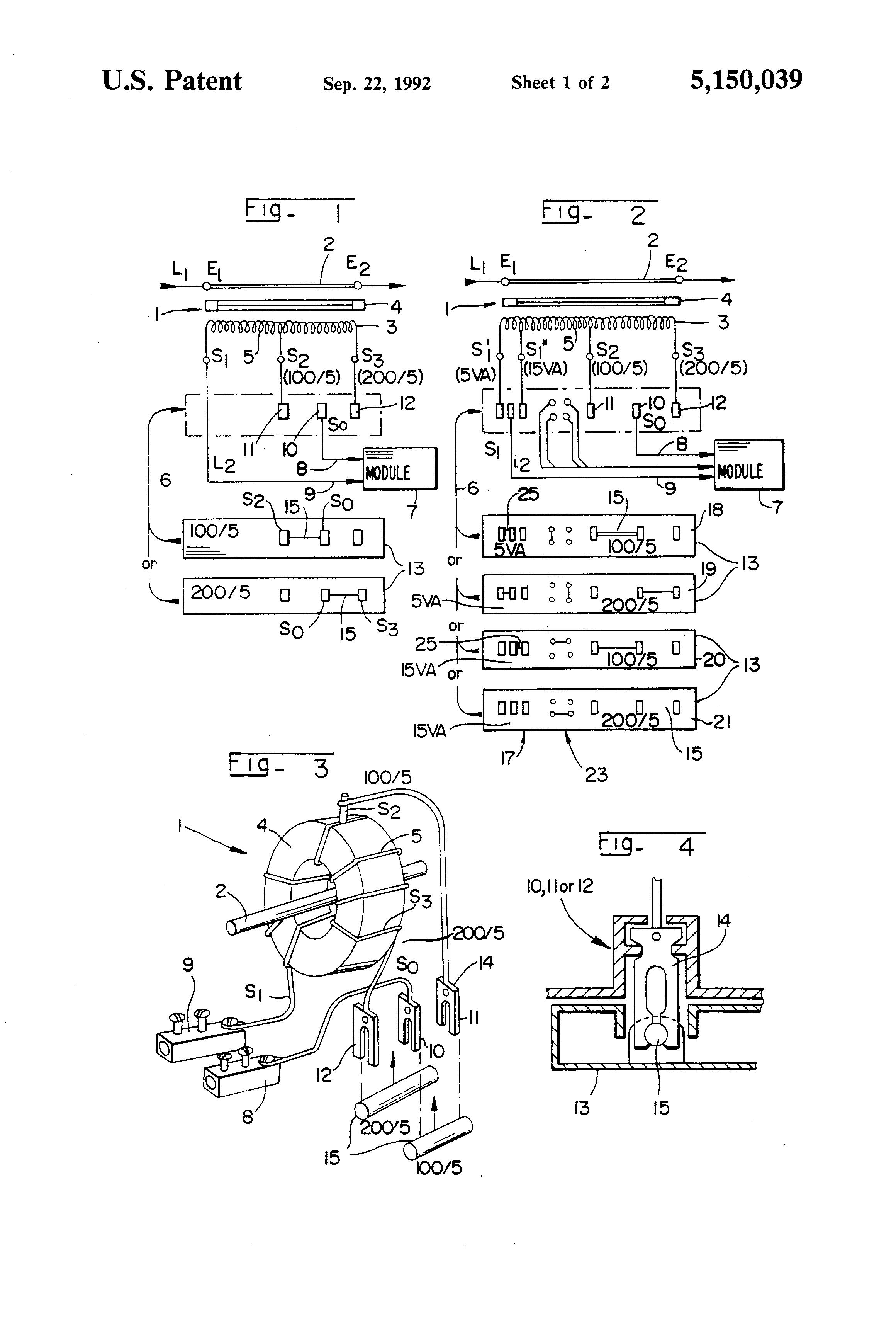 Brevet Us5150039 Electrical Measuring Transformer Google Brevets Ssac Alternating Relay Wiring Diagram Patent Drawing