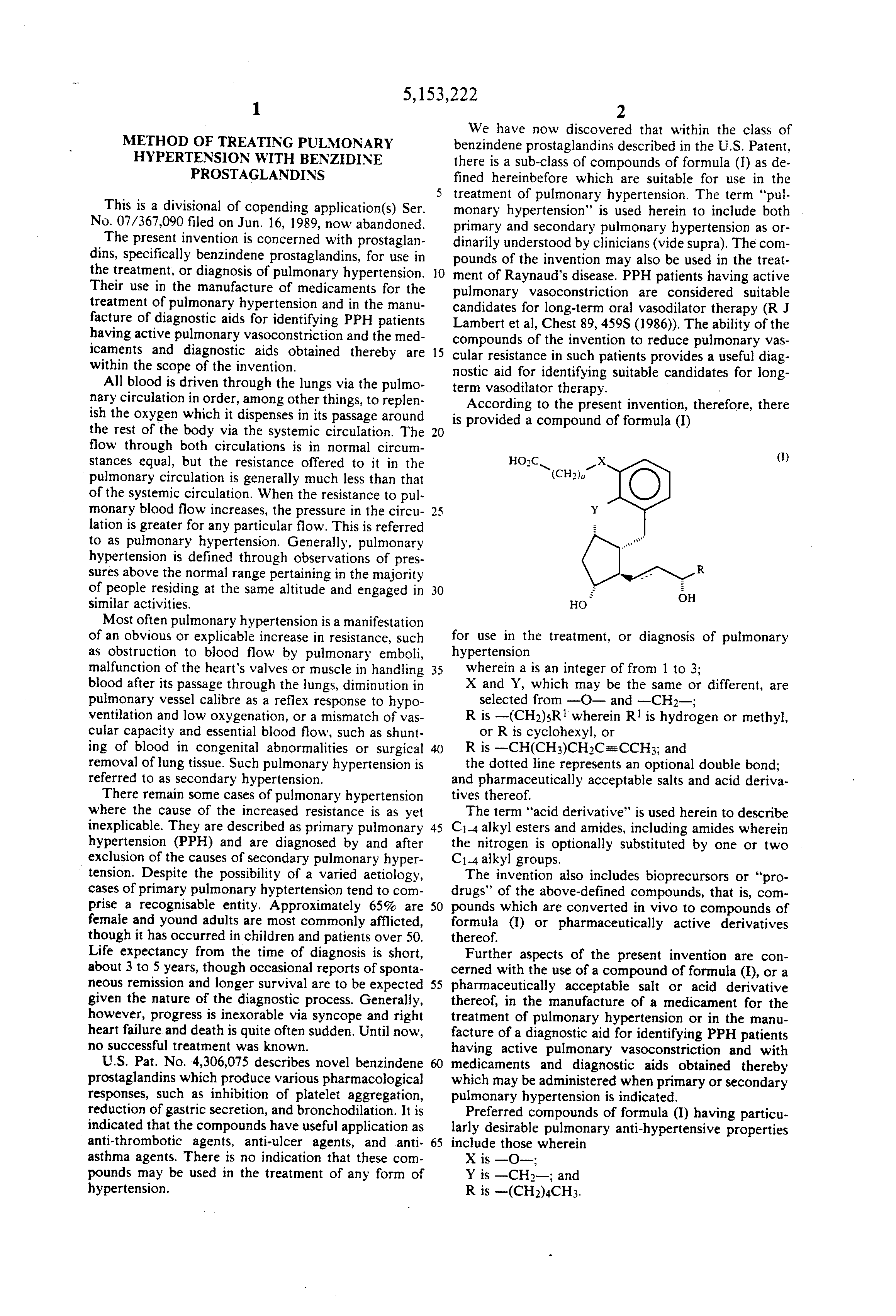 patent us method of treating pulmonary hypertension  patent drawing