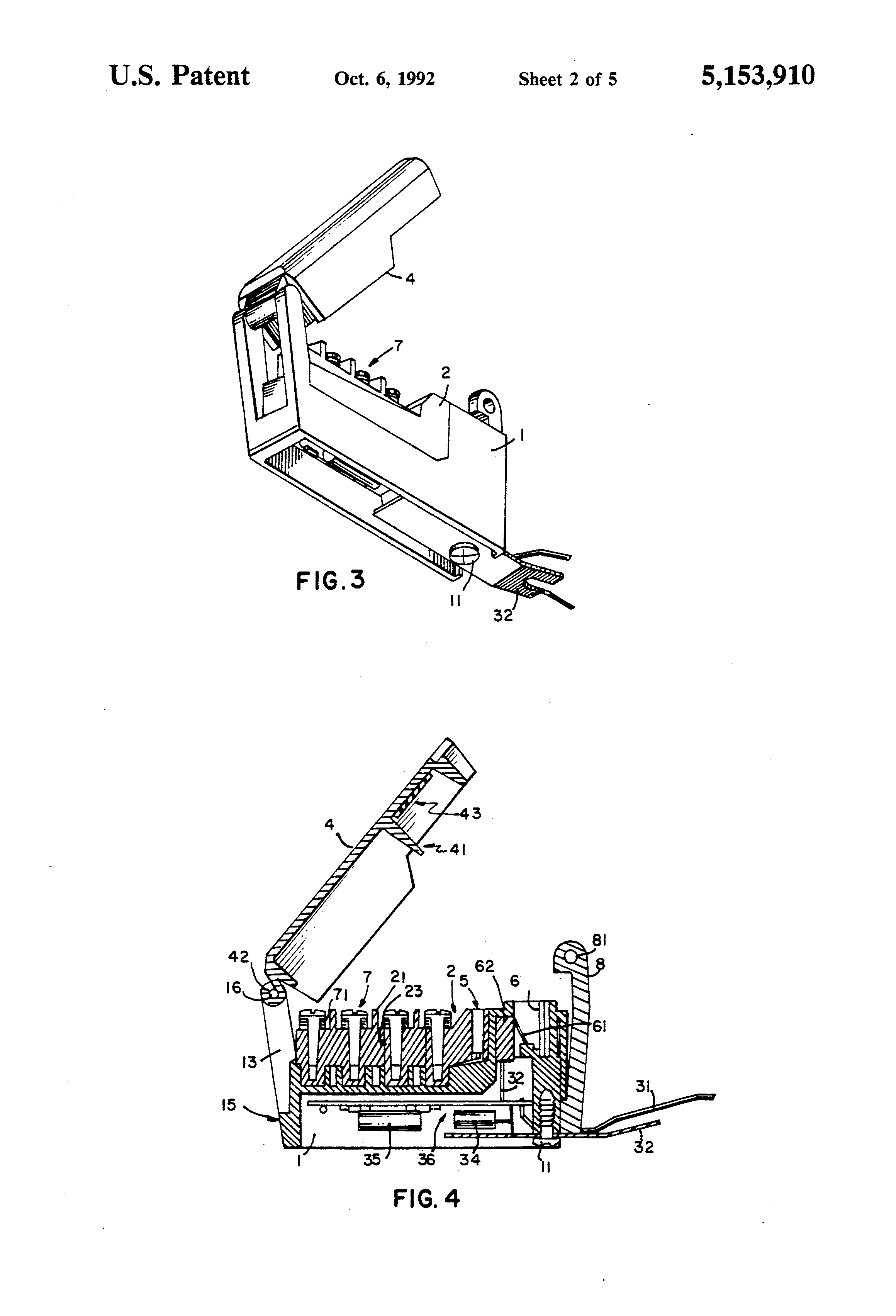 patent us5153910