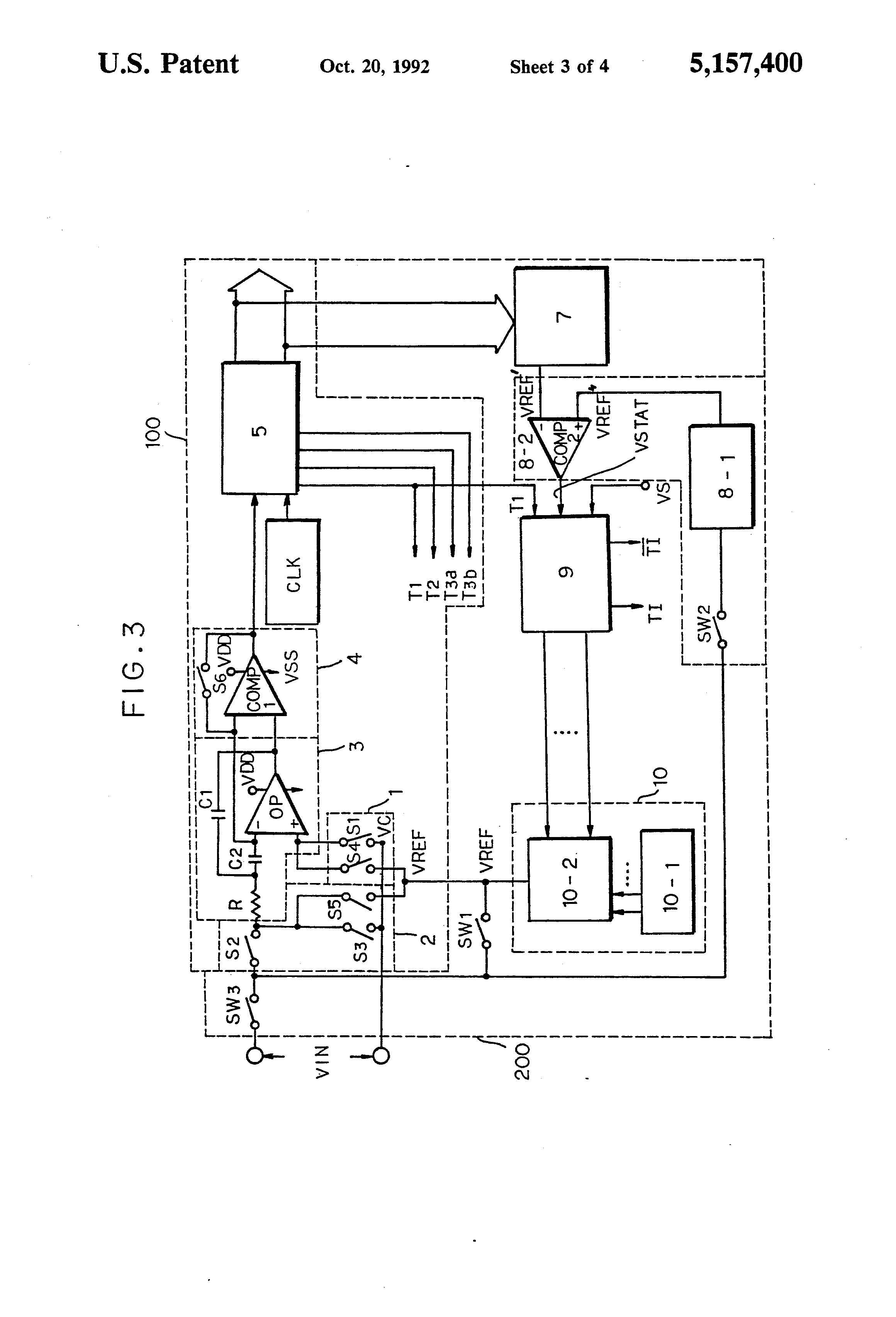 Patent Us5157400 Automatic Reference Voltage Controller Of Circuit Diagram 8 To 1 Multiplexer Drawing
