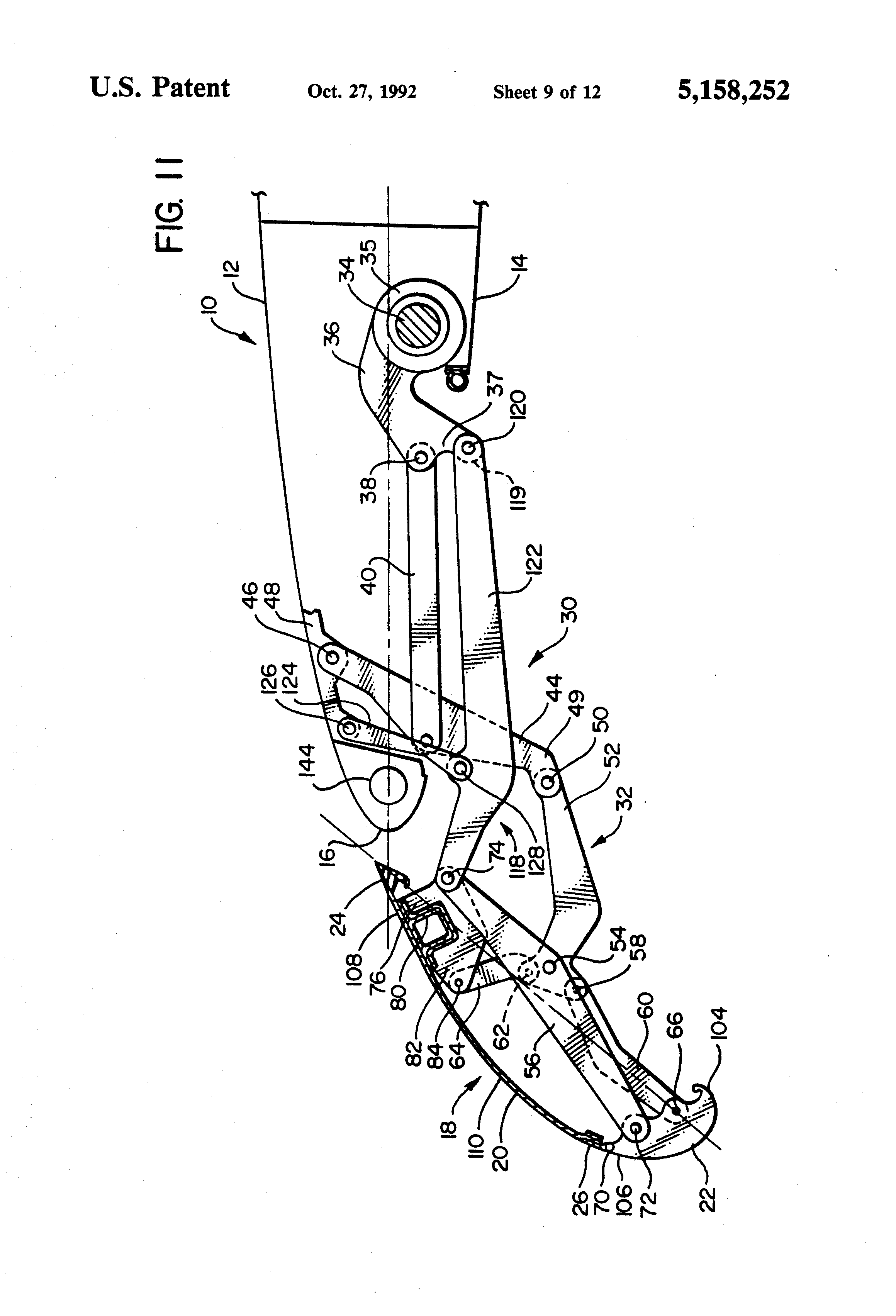 patent us5158252 three position variable camber krueger leading