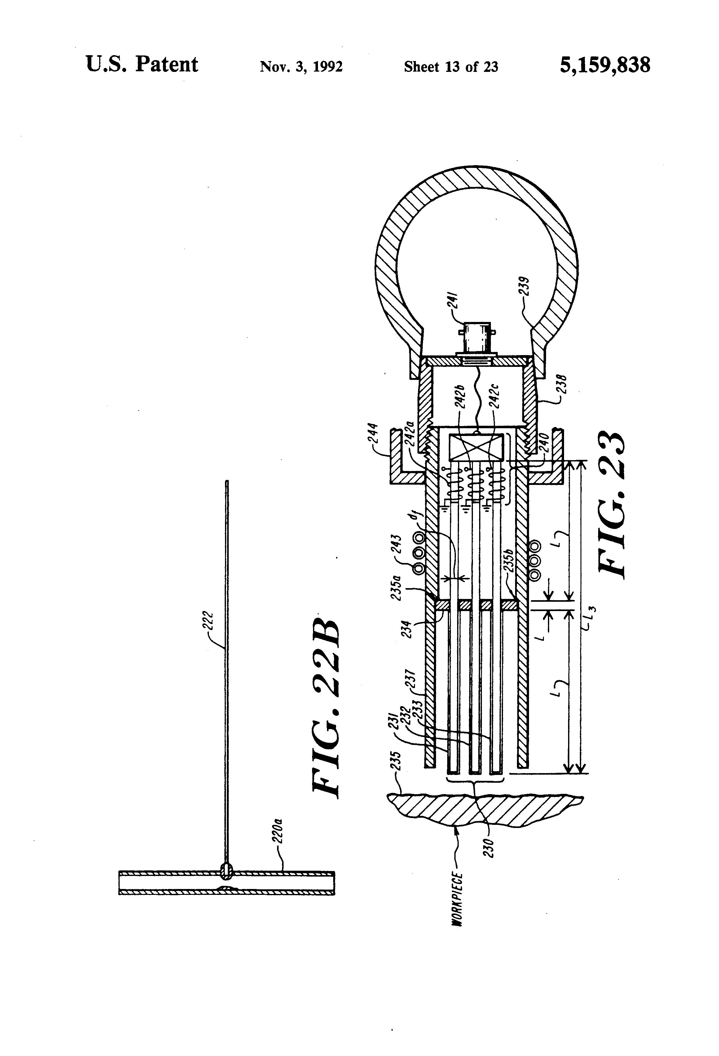 Sears Ss15 Wiring Diagram Trusted Craftsman Lawn Mower Patent Us5159838 Marginally Dispersive Ultrasonic Waveguides Generac Generator Diagrams Source