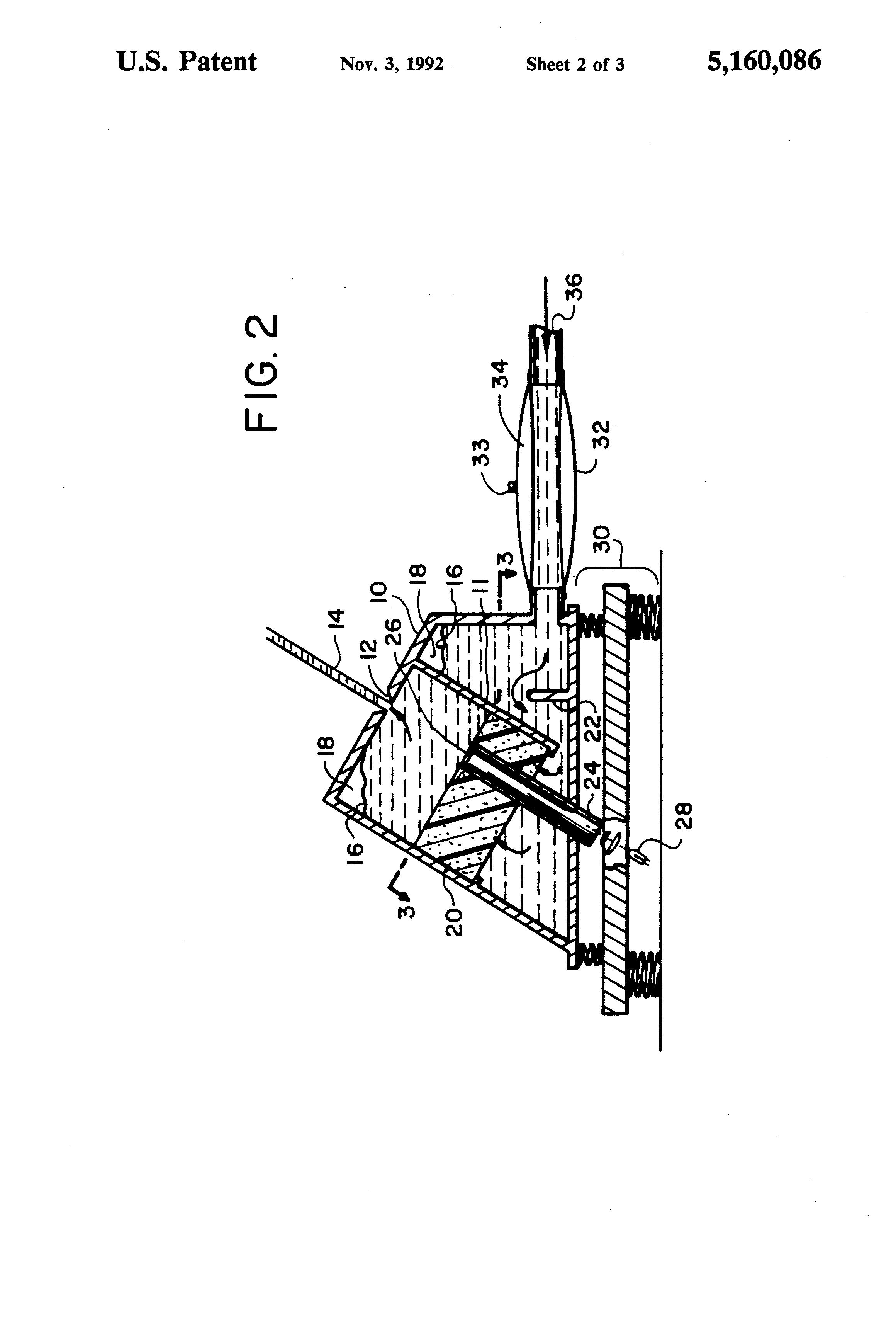 patent us5160086 - lighted laminar flow nozzle