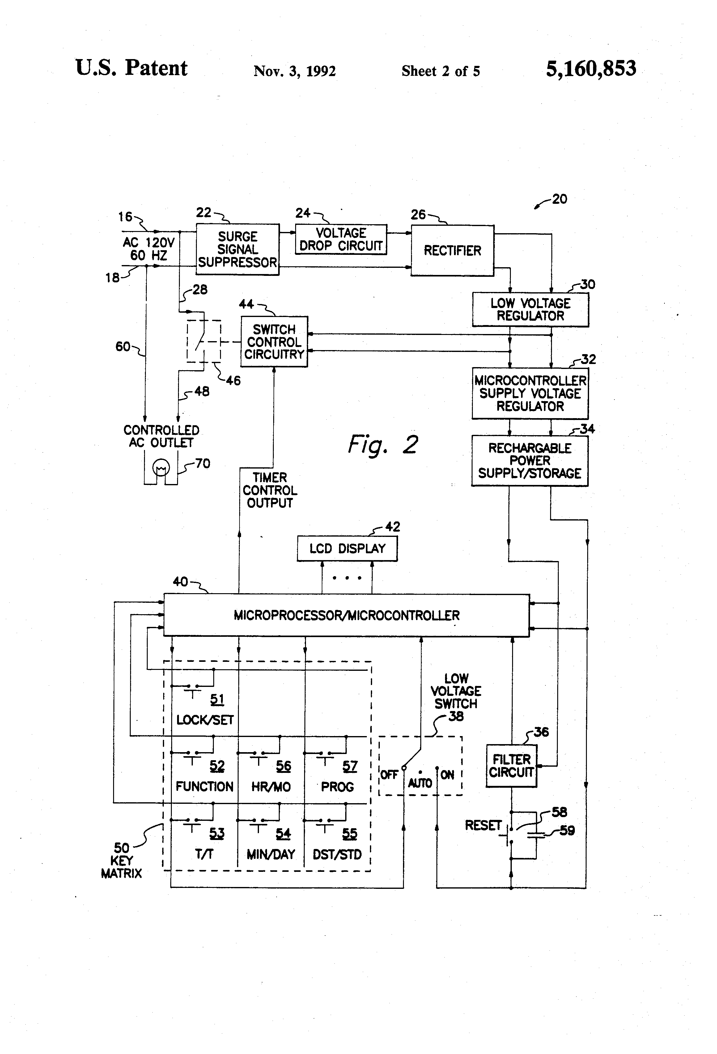 Sangamo Time Clock Wiring Diagram 33 Images Switch Us5160853 2 Patent Electronic Timer With Tracker At