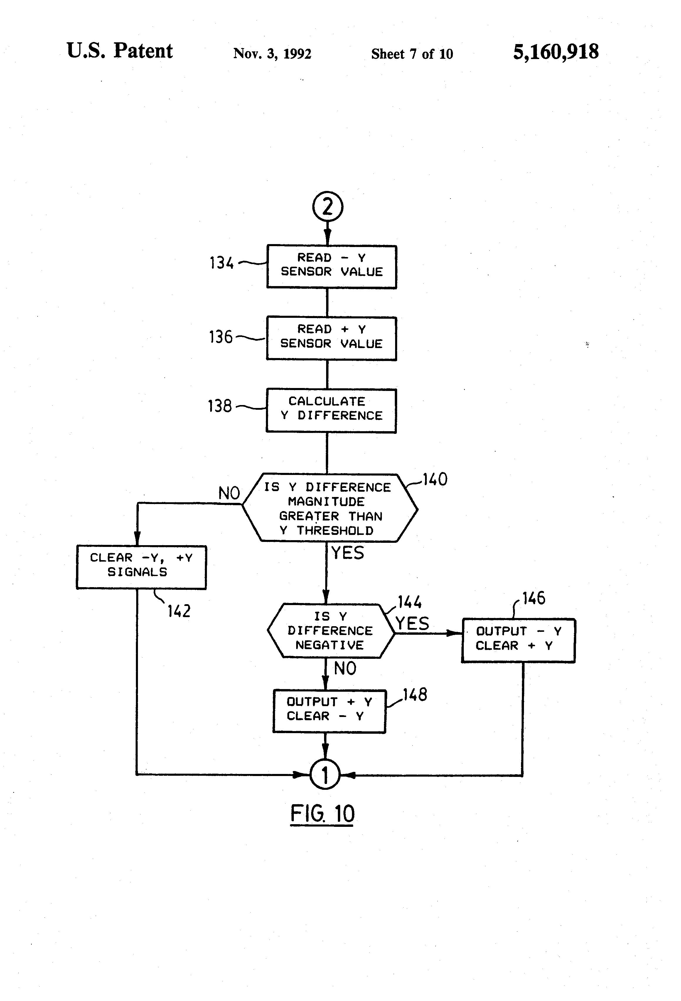 US5160918 7 patent us5160918 joystick controller employing hall effect sauer danfoss joystick wiring diagram at cos-gaming.co