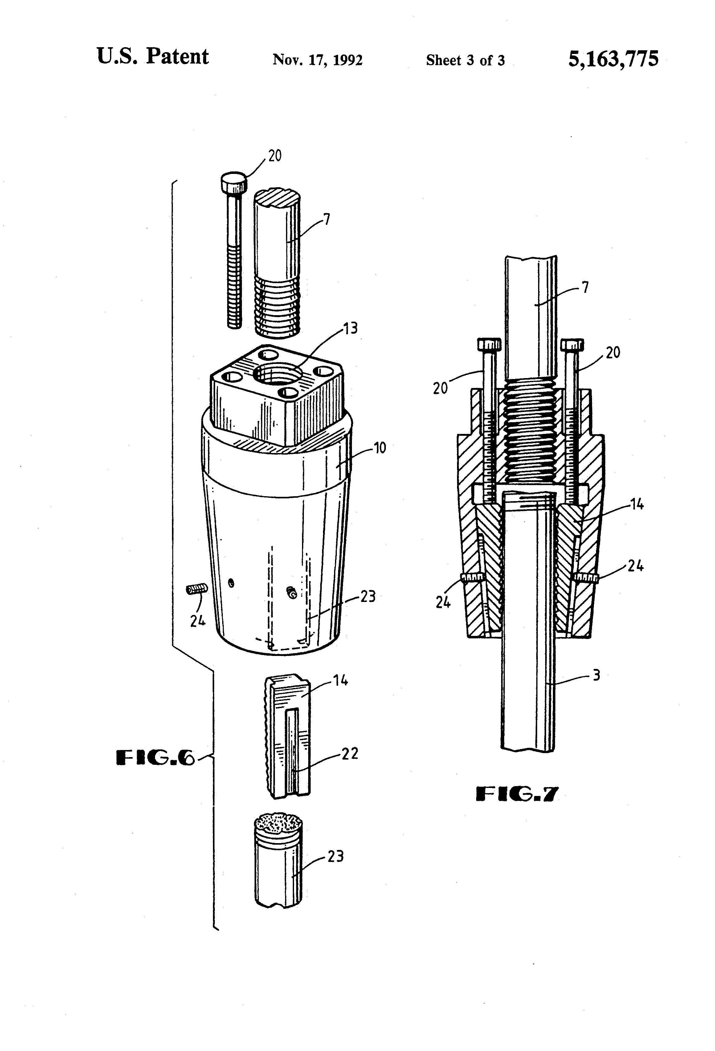 Patent Us5163775 Anchor Bolt Repair Coupling Google