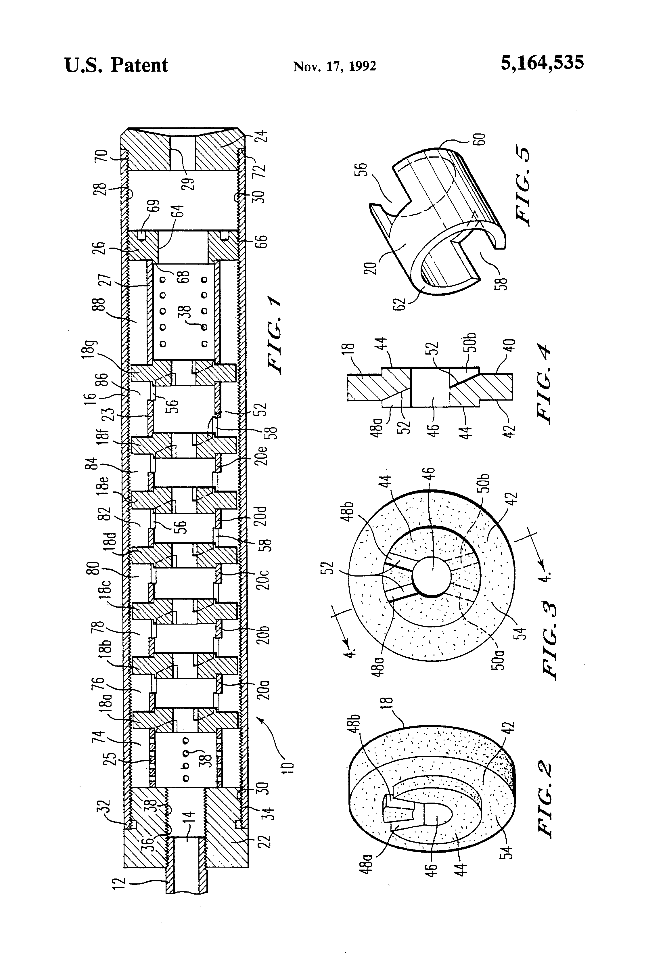 patent us5164535 - gun silencer