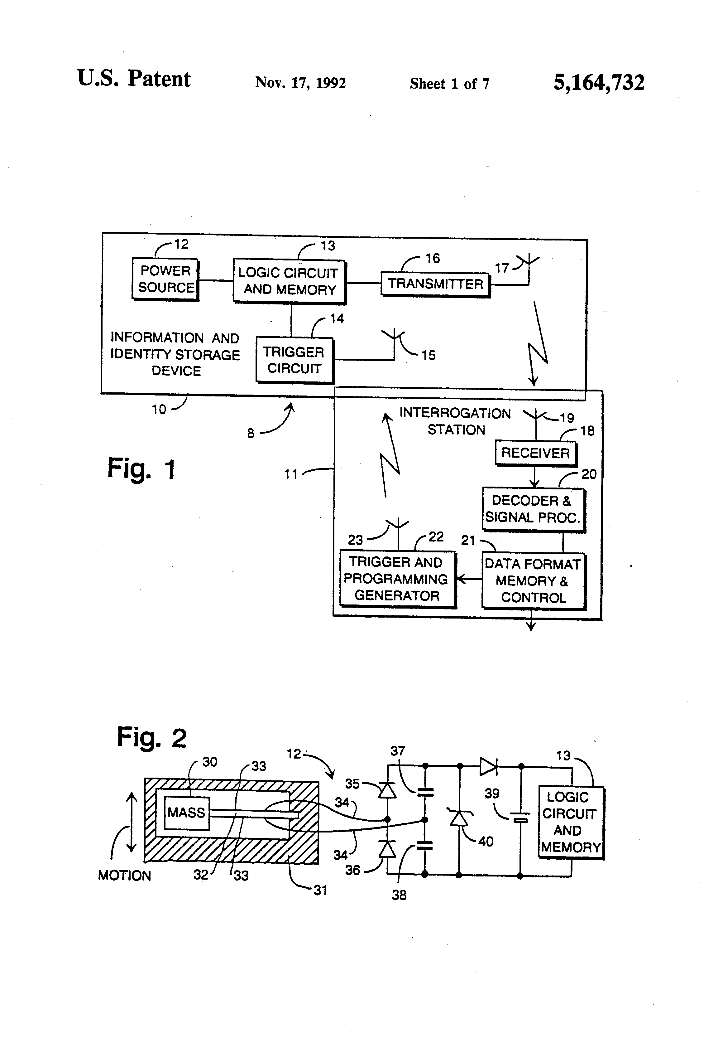 Patent Us5164732 Highway Vehicle Identification System With High Dutycycle Modulator Circuit Diagram Tradeoficcom Drawing