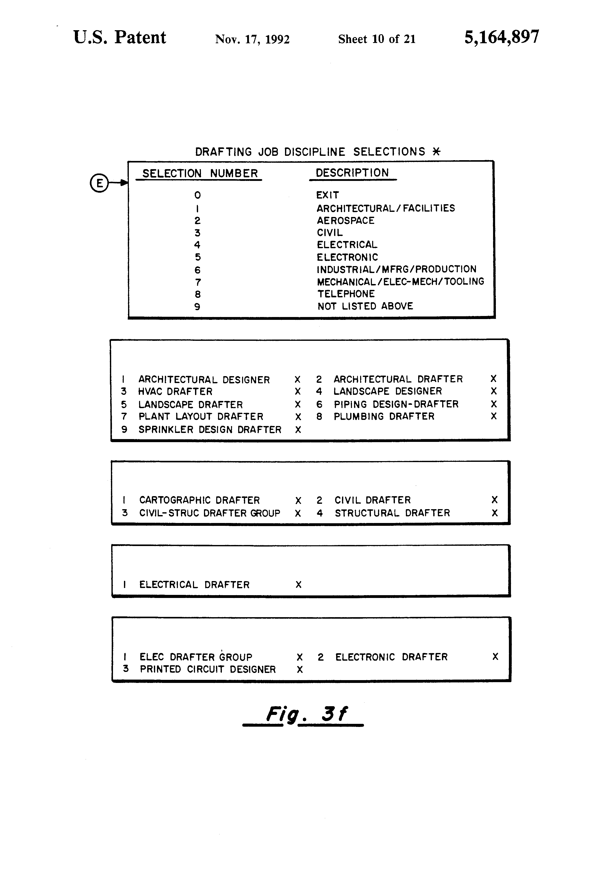 patent us5164897 - automated method for selecting personnel