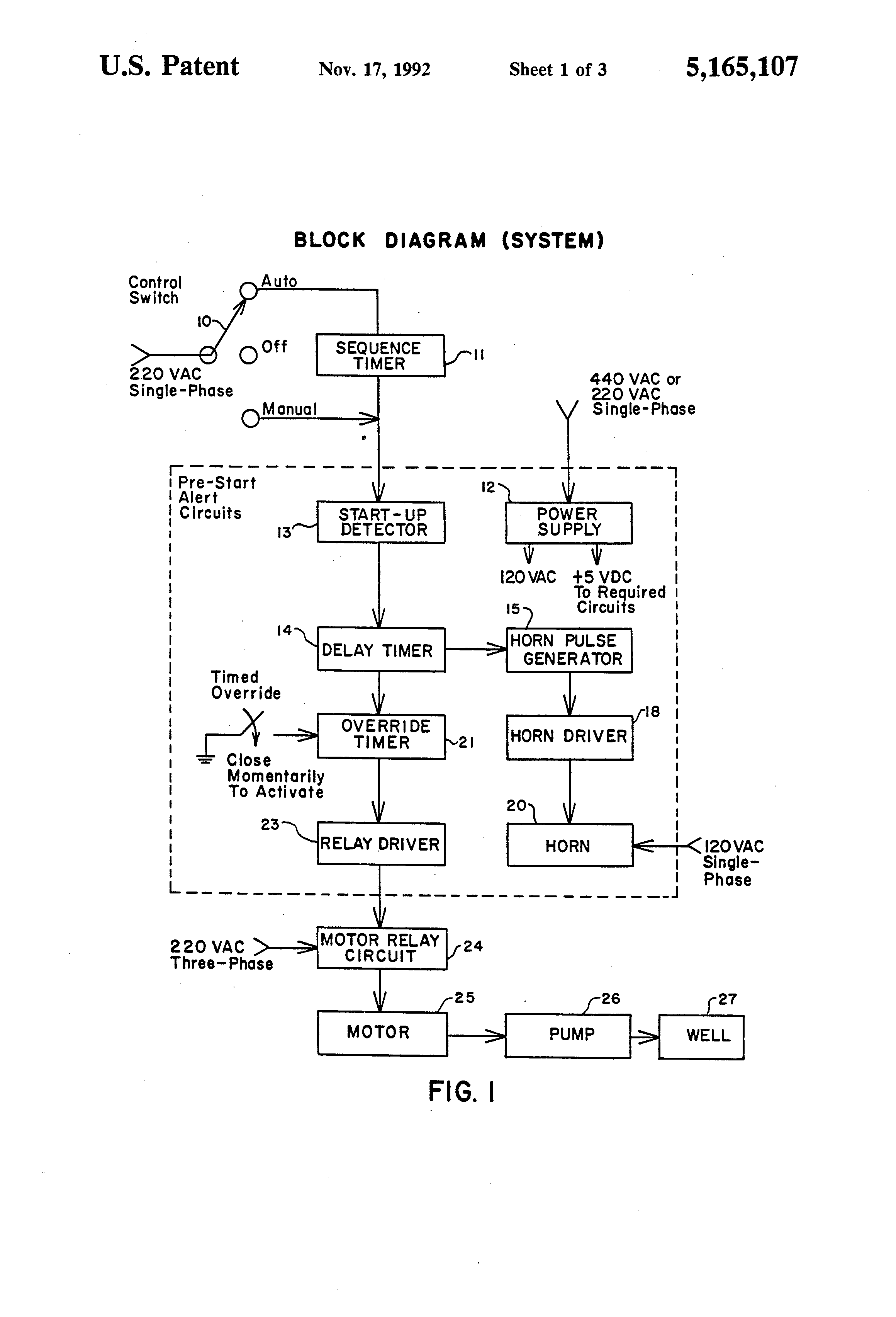 Patent Us5165107 Electronic Delay Timer And Alarm System Google Resistor R3 Which Is Sufficient To Trigger Triac Tr1 Circuit Diagram Drawing