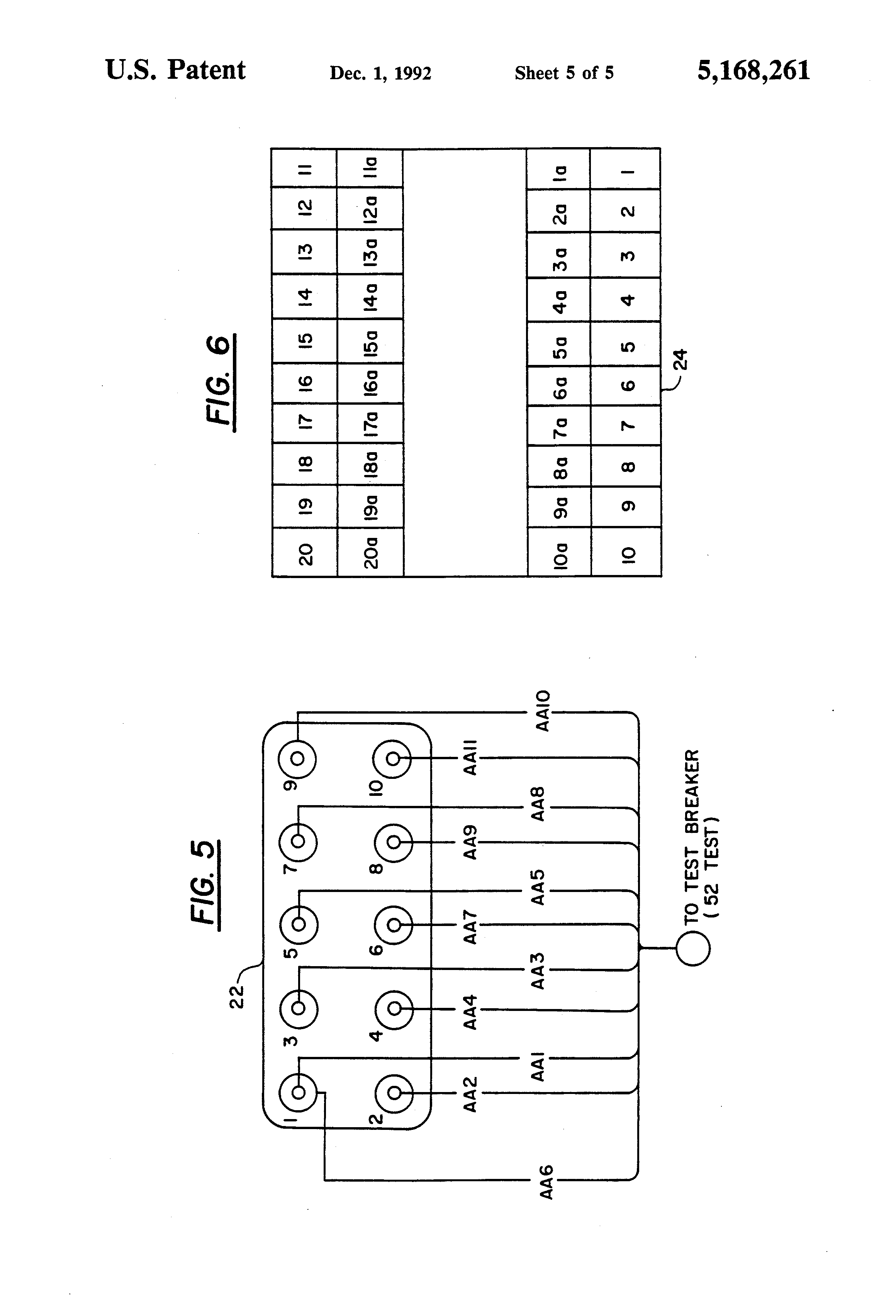 patent us5168261 - circuit breaker simulator