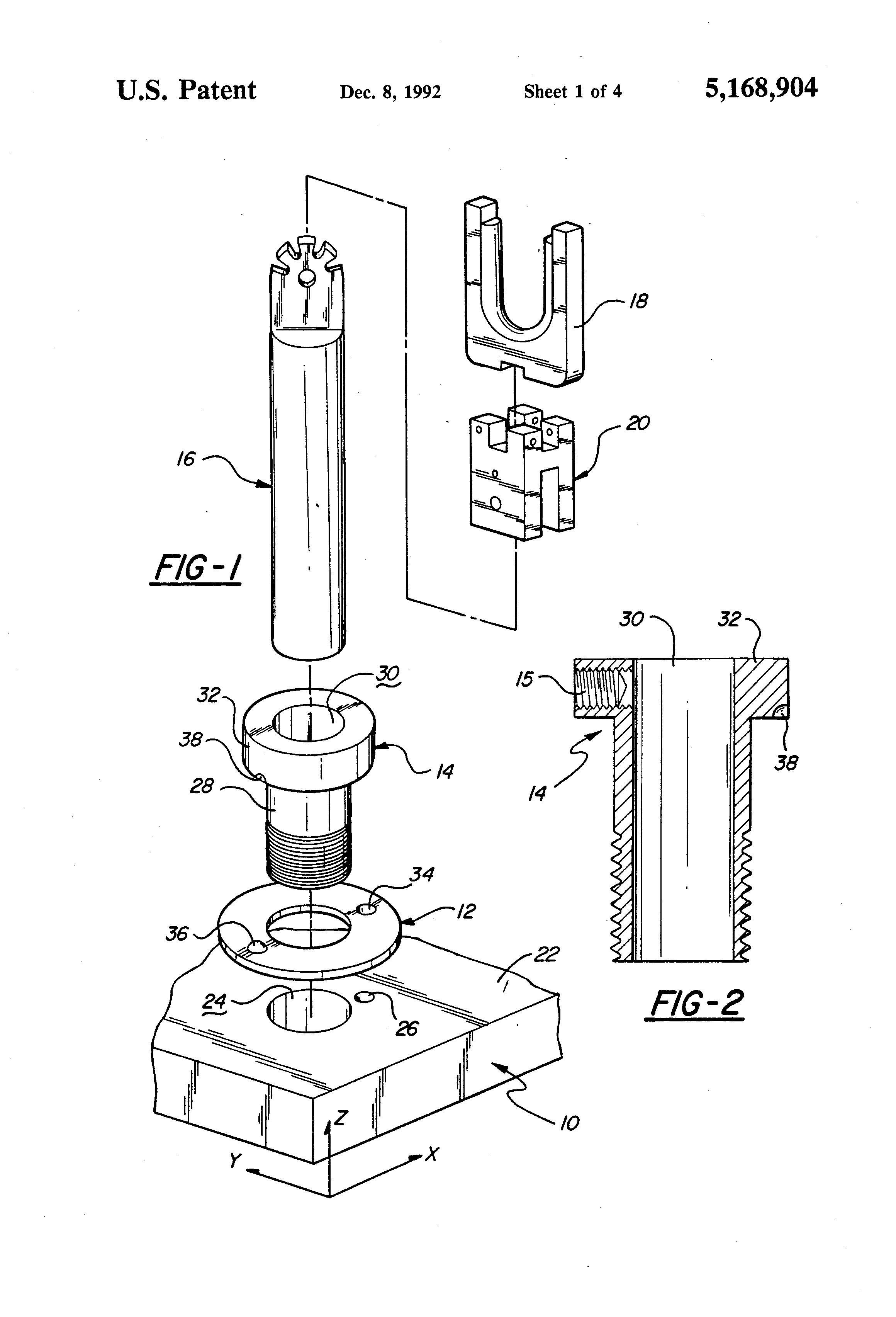patent us5168904 - reconfigurable wiring harness jig