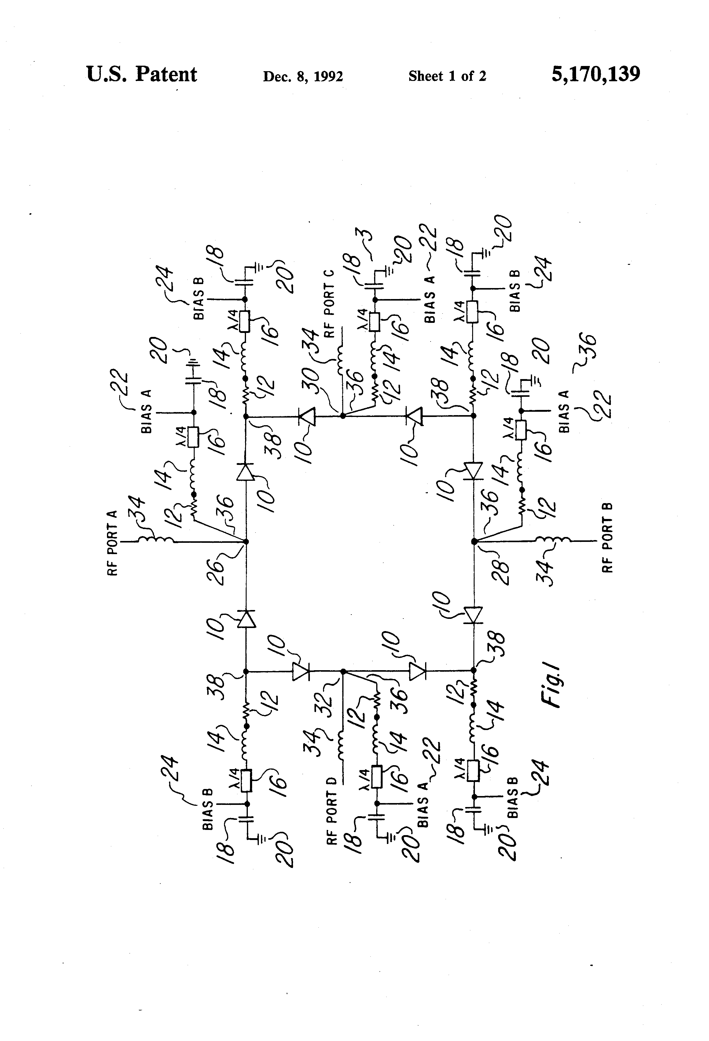 Patent Us5170139 Pin Diode Switch Google Patents