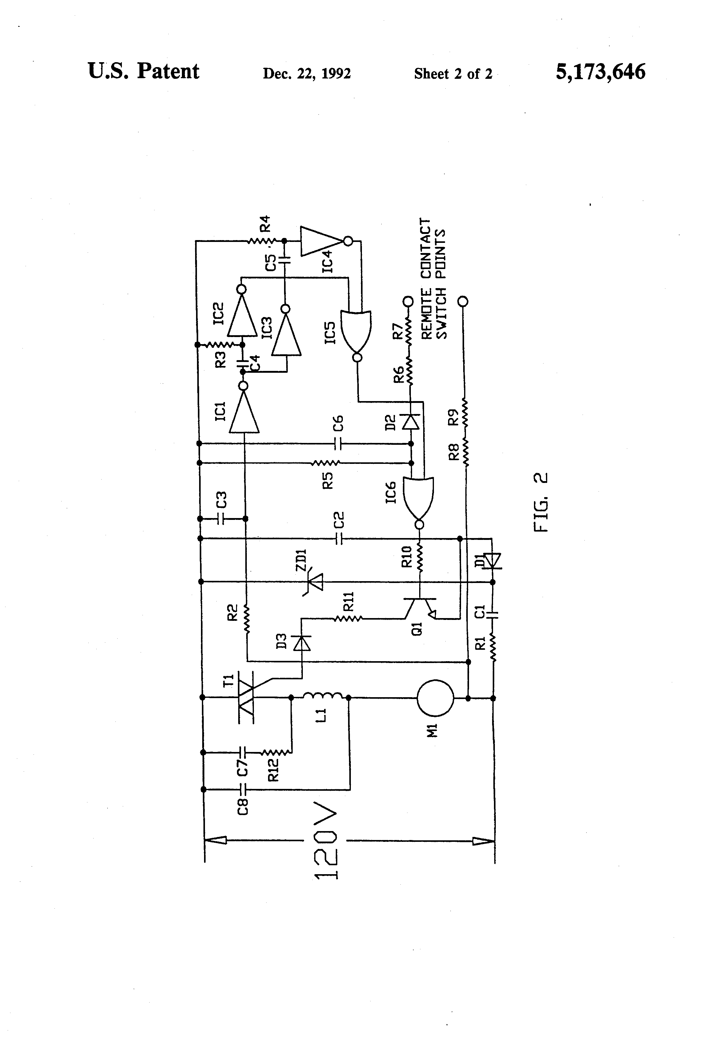 US5173646 2 patent us5173646 vacuum cleaner control circuit google patents vacuum cleaner motor wiring diagram at gsmx.co