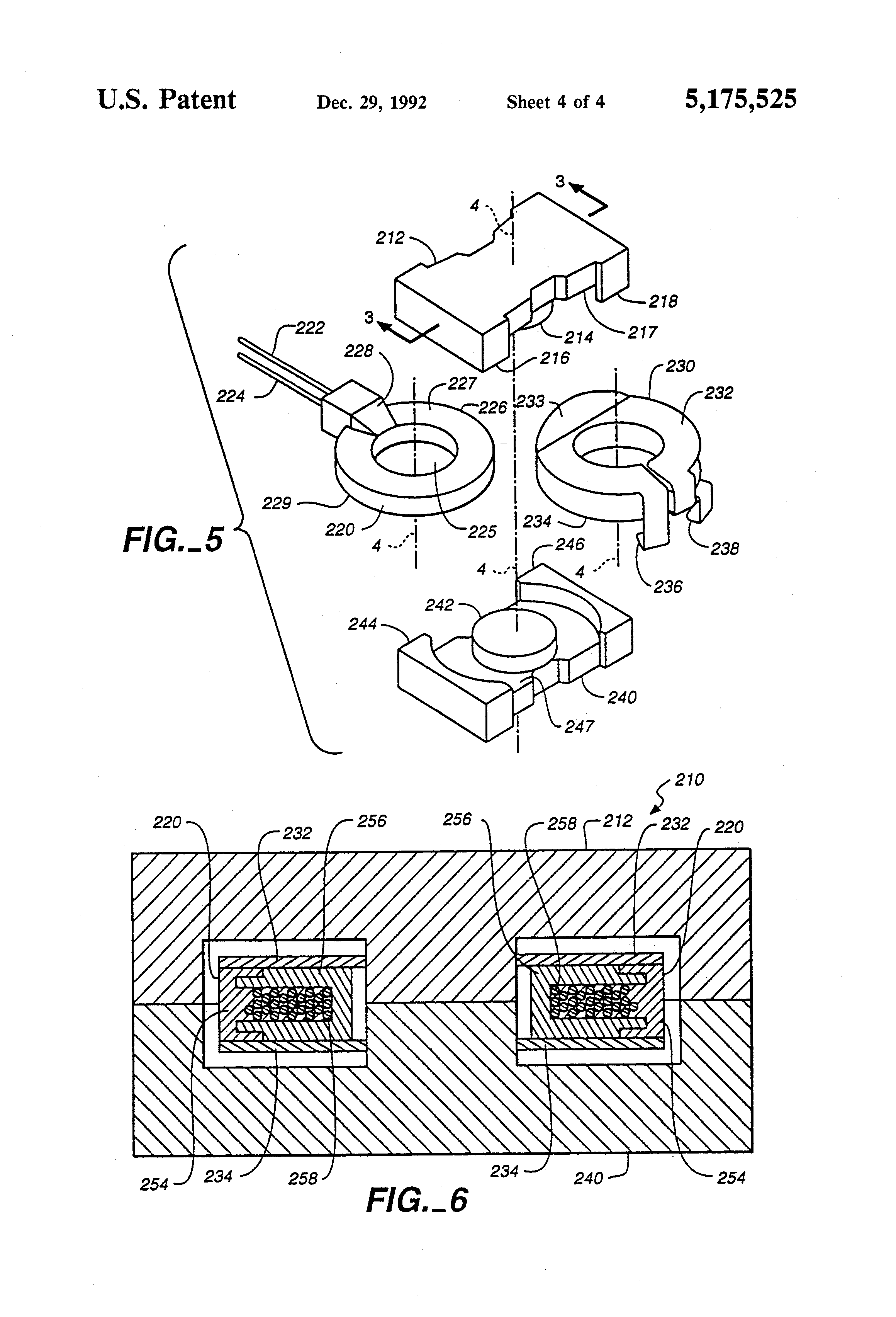 patent us5175525 - low profile transformer