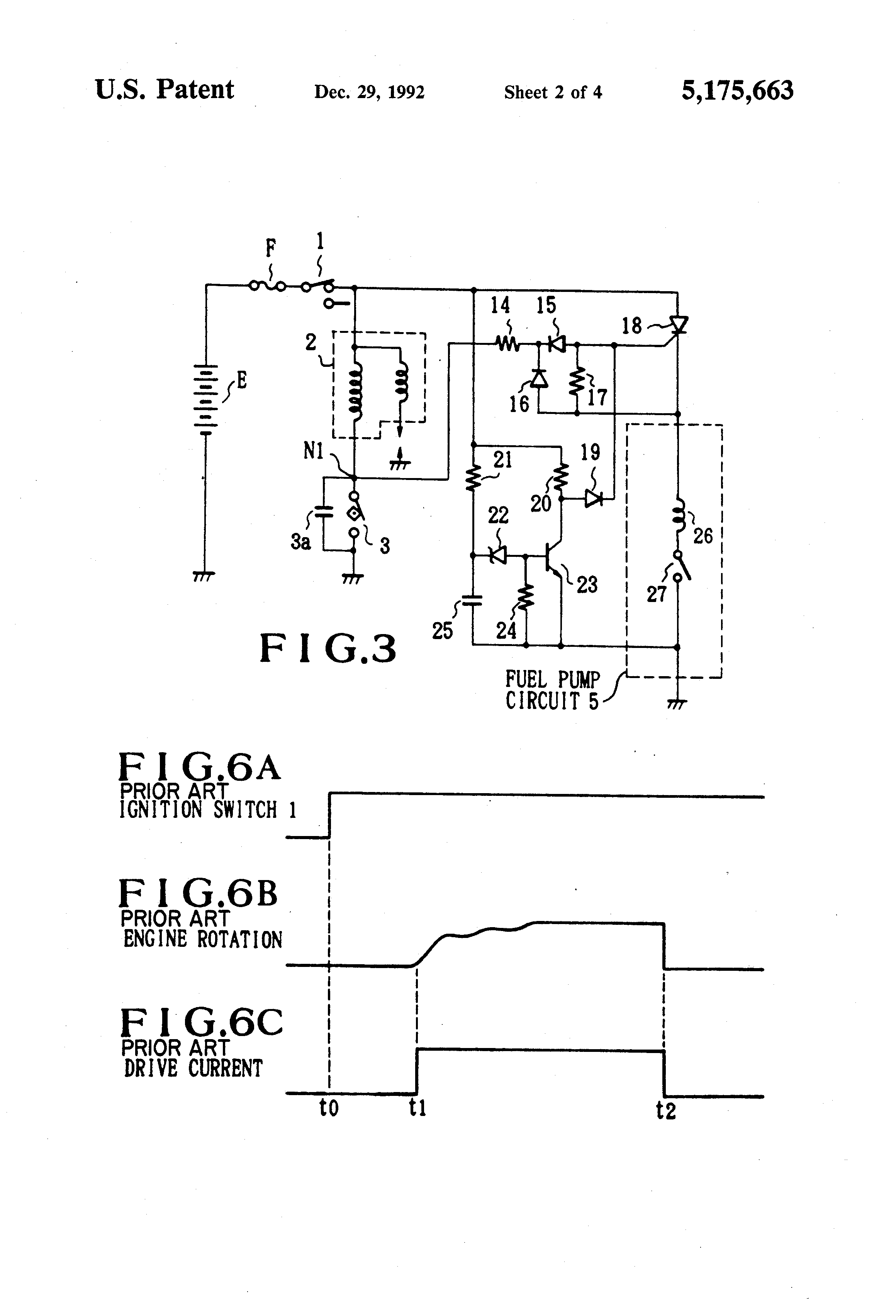 Patent Us5175663 Fuel Pump Controller Google Patents Scr Turnon Characteristics Electronic Circuits And Diagram Drawing