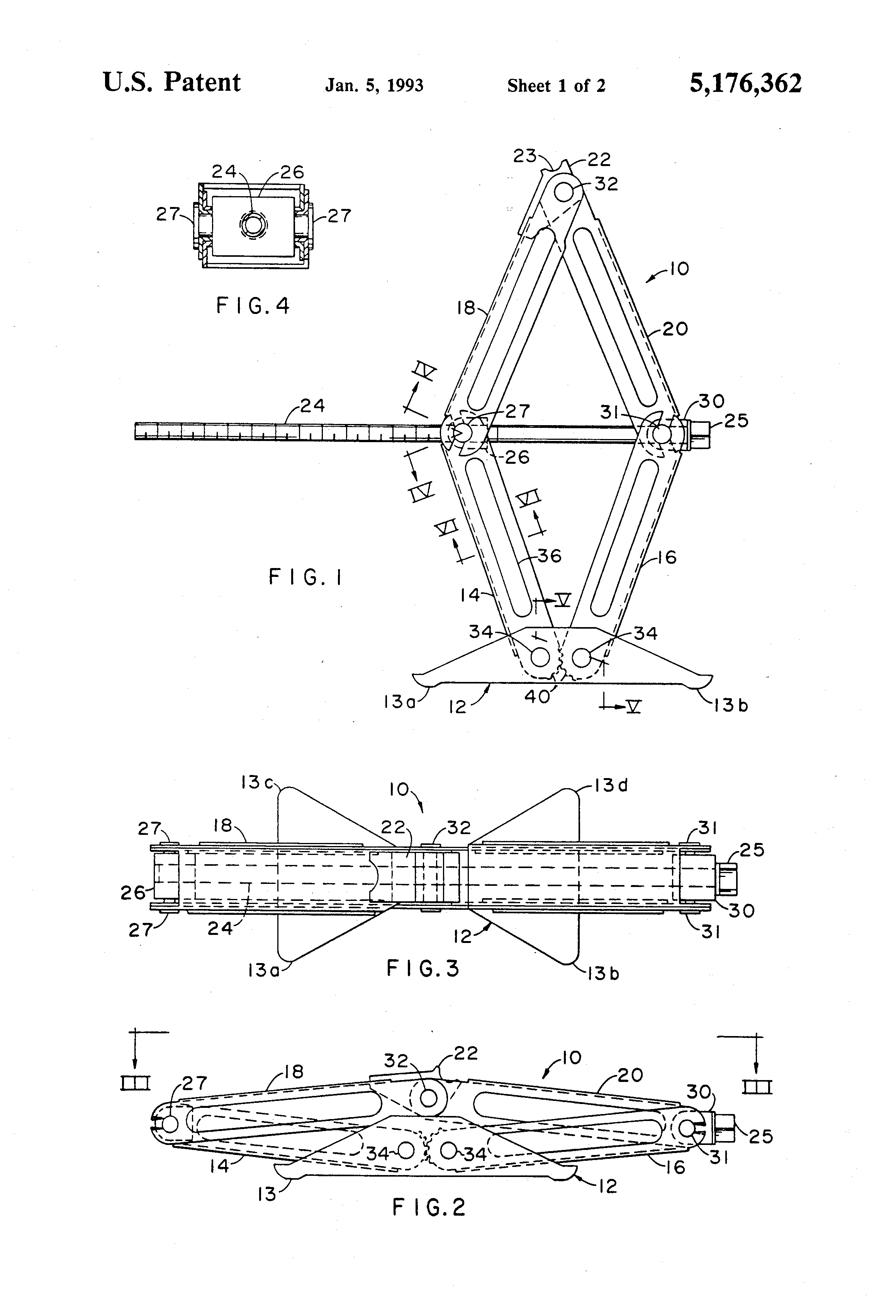 Patent Us5176362 Vehicle Jack Assembly Google Patents