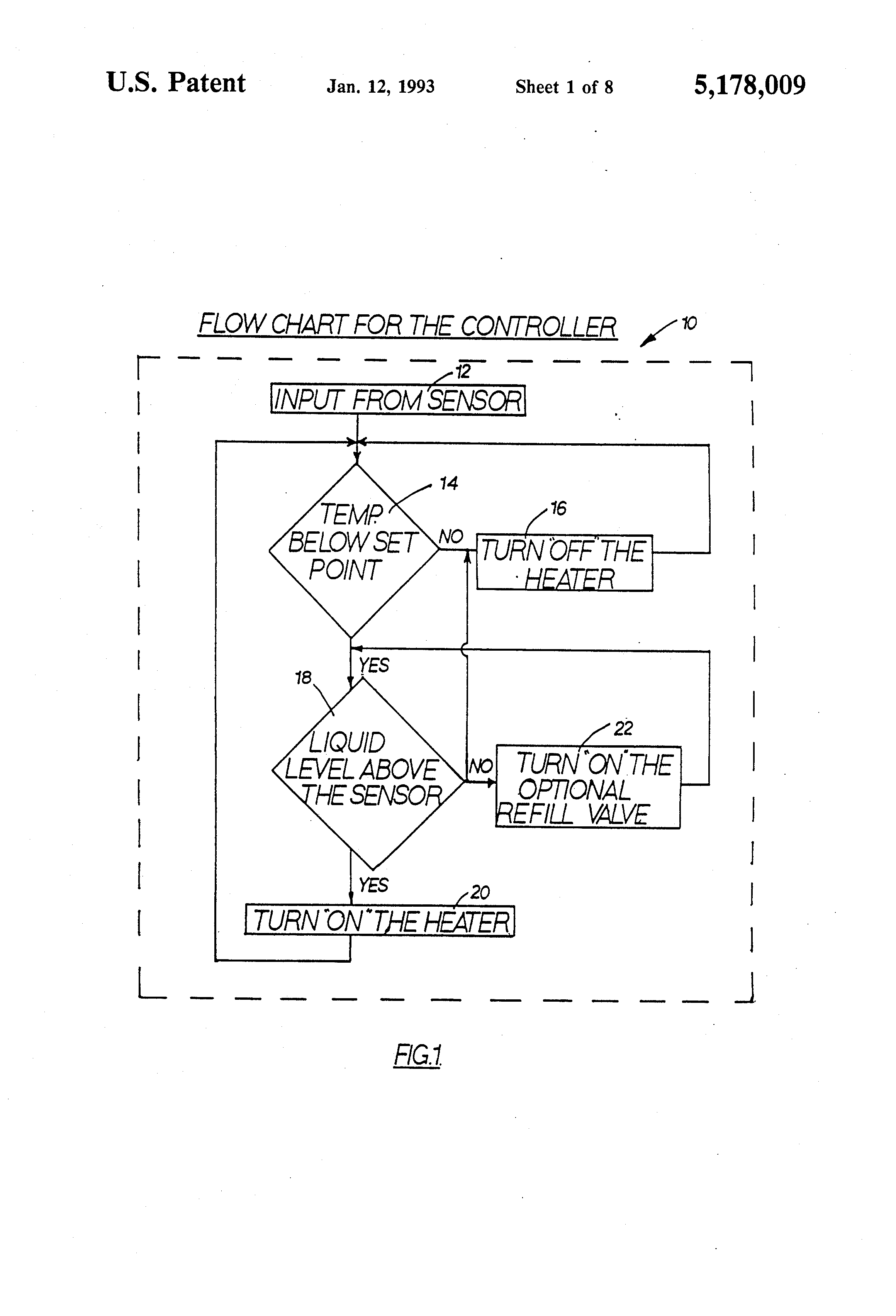 Patent Us5178009 Integral Temperature And Liquid Level Sensor Fig 2 Digital Thermometer Schematic By Using Pic Microcontroller Drawing